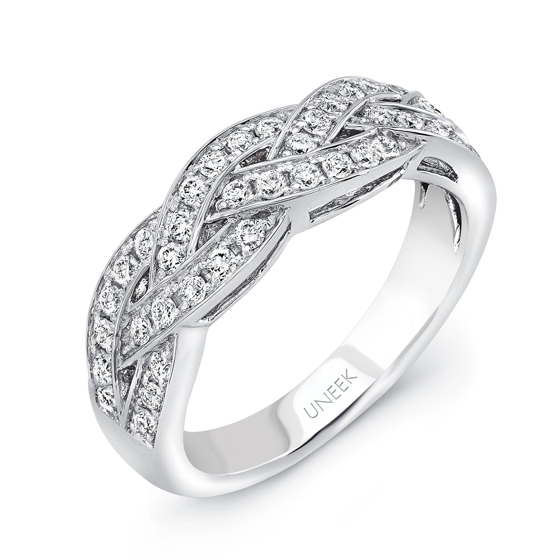 Uneek Diamond .50ctw. Wedding Band in 14K White Gold SWS205