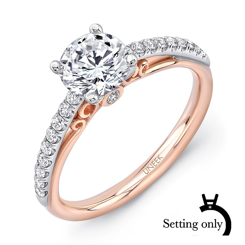 14K Family Jewelry Diamond Semi-Set Ring