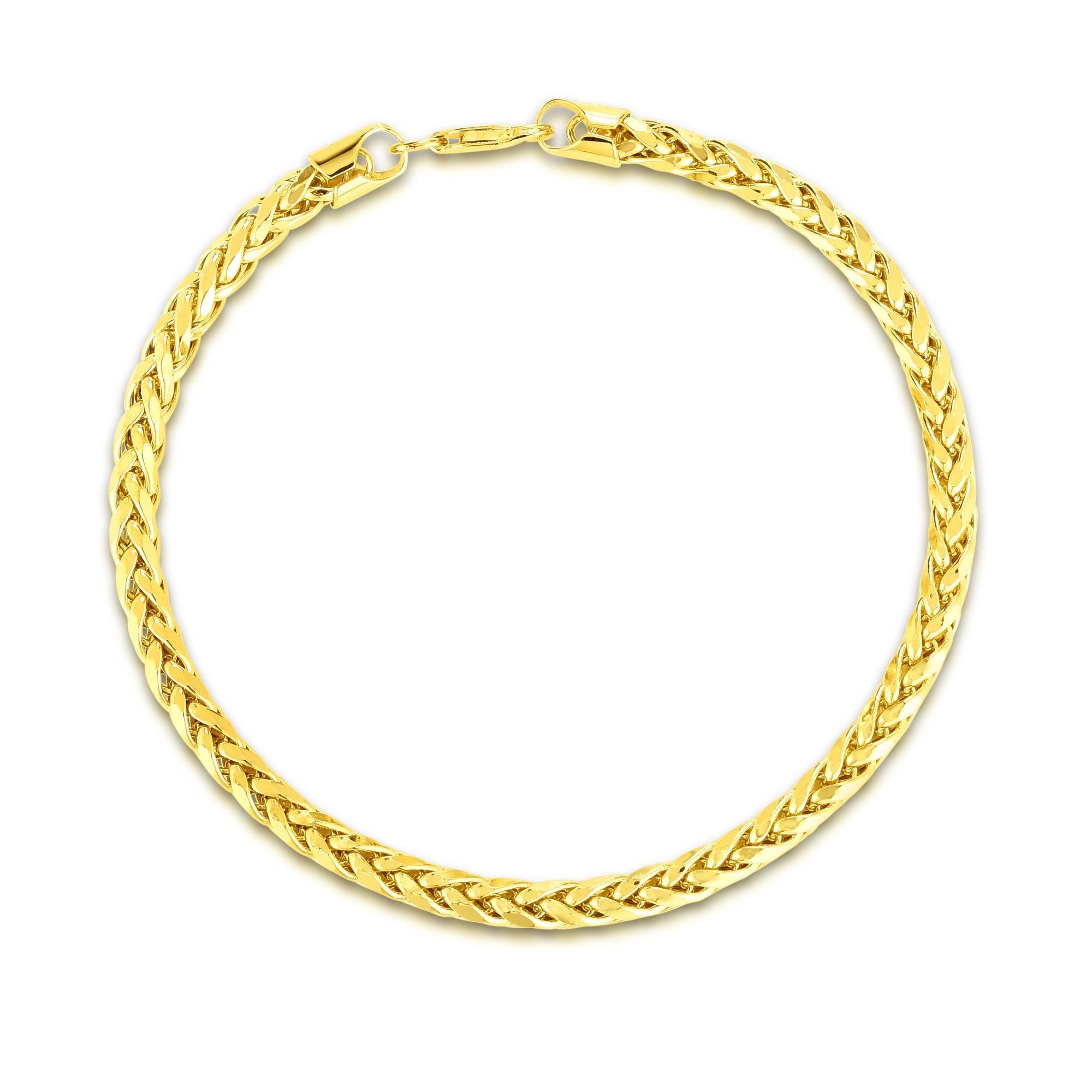 Men's Diamond-Cut Lite Franco Bracelet in 14k Yellow Gold