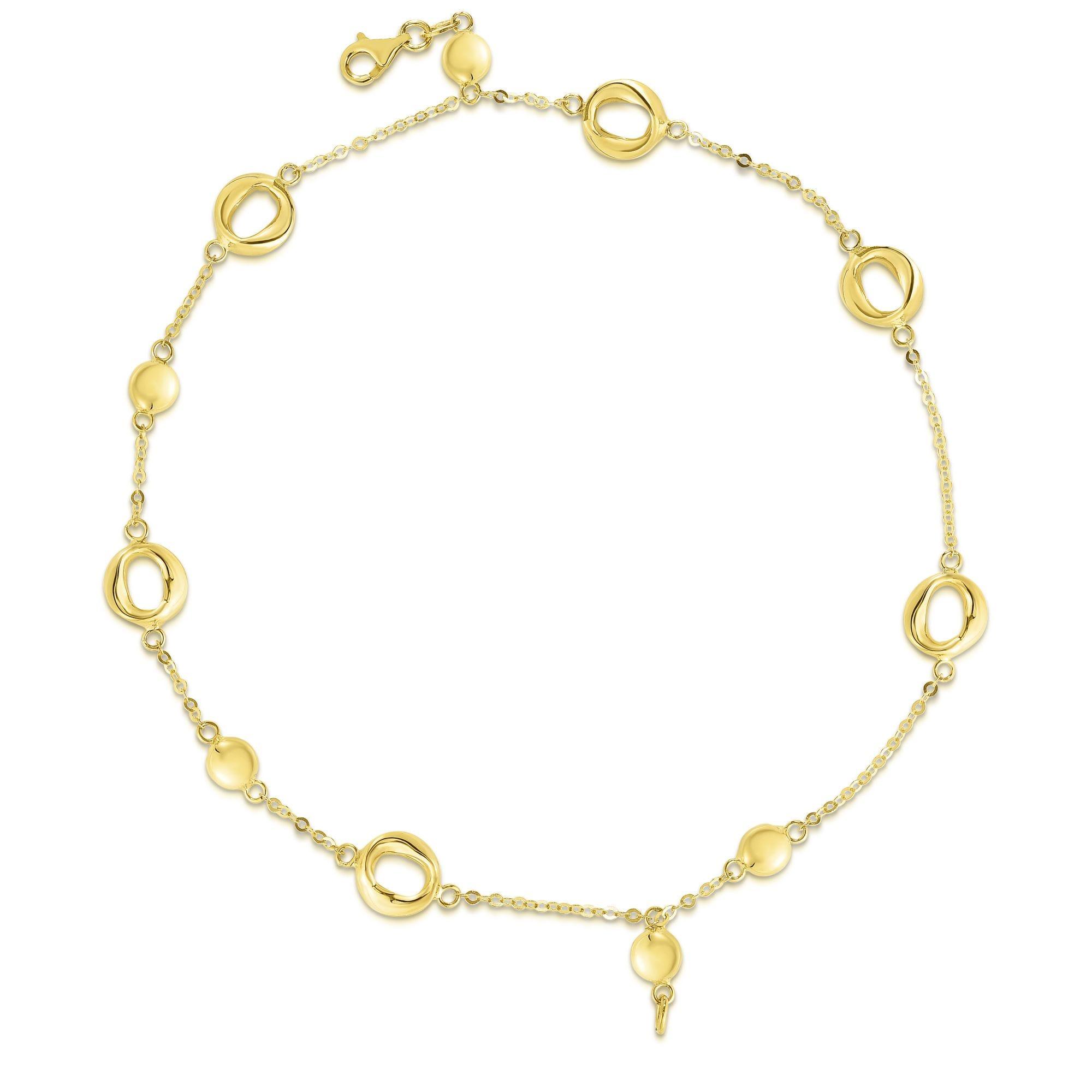 Open Circle Double-Strand Fashion Bracelet in 14k Yellow Gold