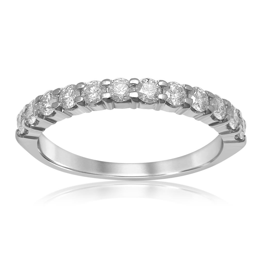 Classic Elegance. Diamond Band 1/2ctw in 14k White Gold
