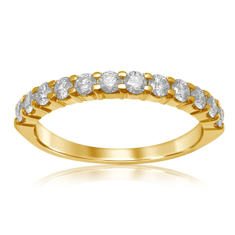 Classic Elegance. Diamond Band 1/2ctw in 14k Yellow Gold
