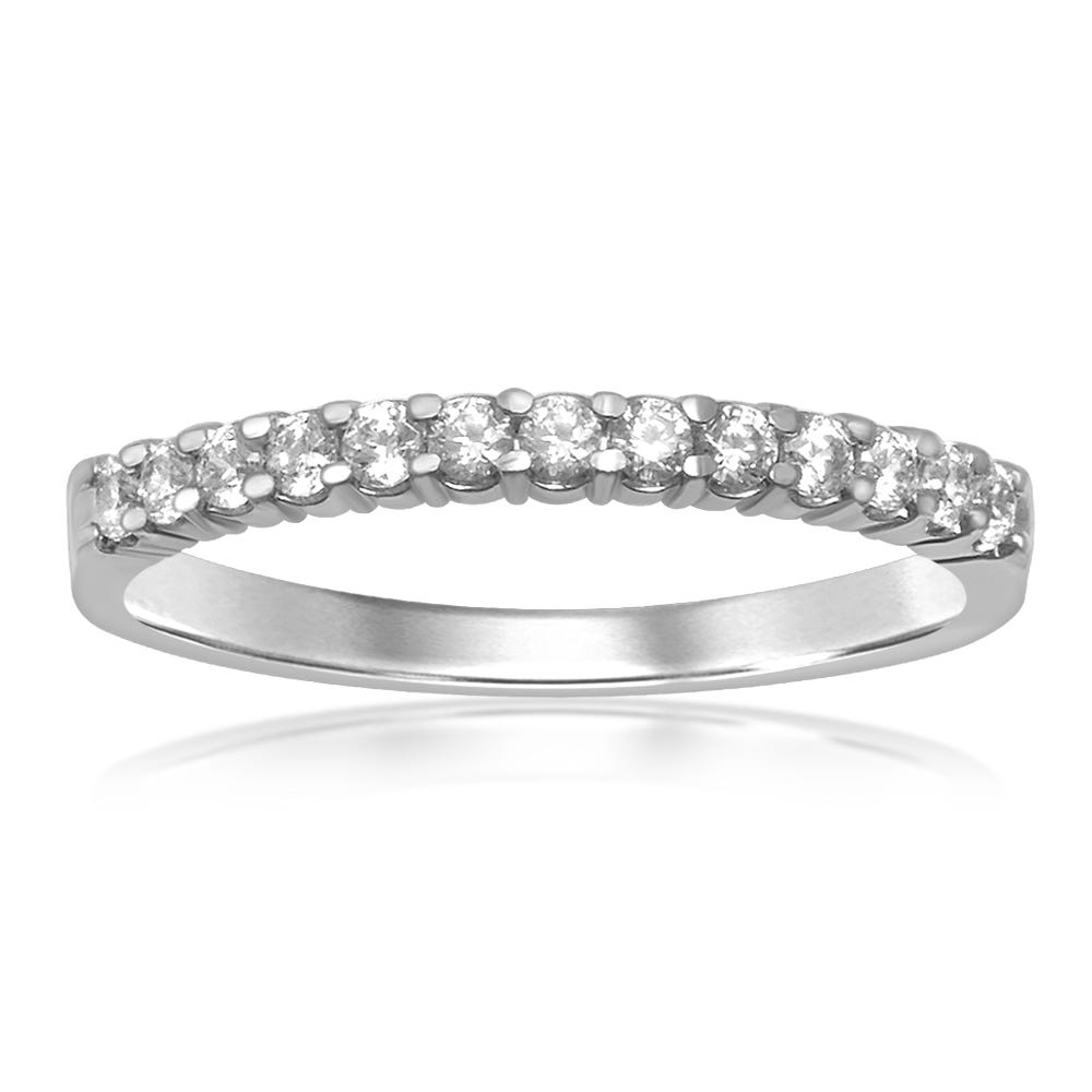 Classic Elegance. Diamond Band 1/4ctw in 14k White Gold
