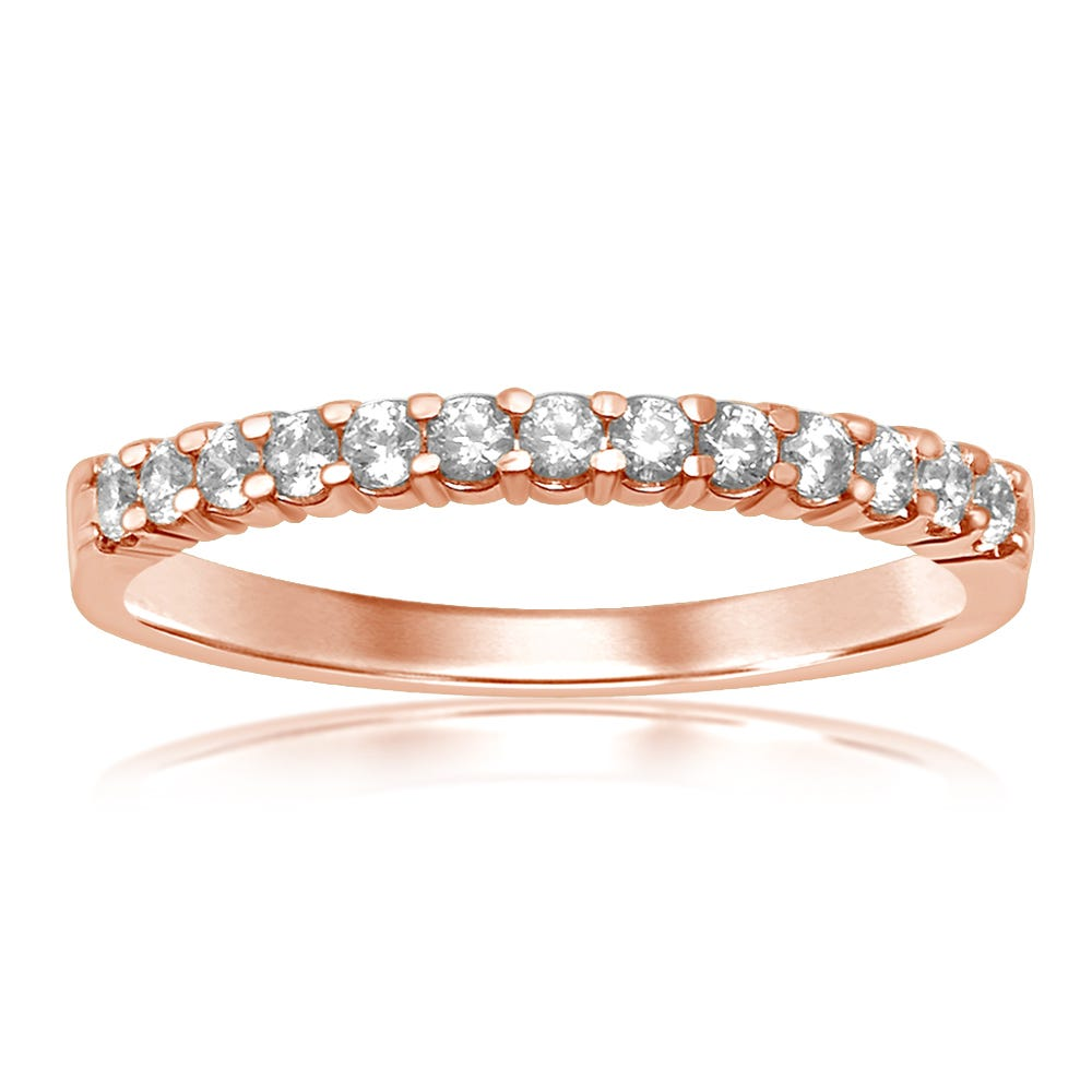 Classic Elegance. Diamond Band 1/4ctw in 14k Rose Gold