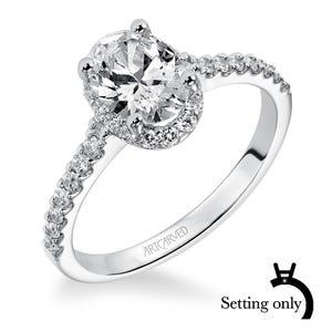 d0f5c09b67d ArtCarved® Oval Diamond Semi-Mount in 14k White Gold
