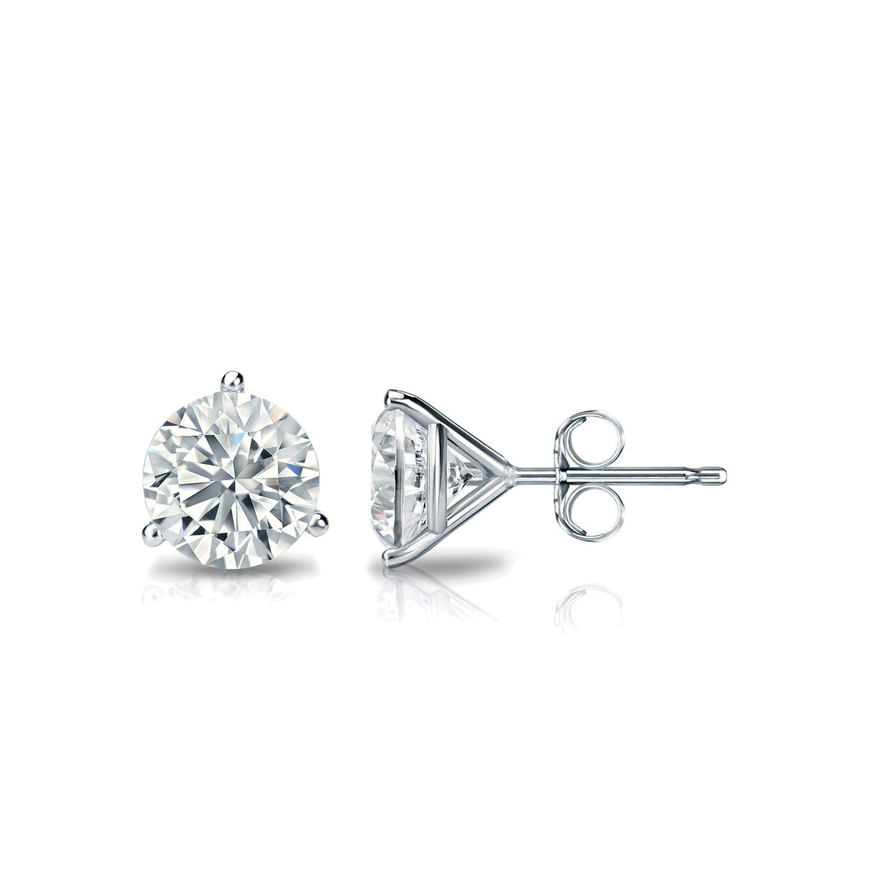 Diamond Solitaire Stud Earrings Ij I2