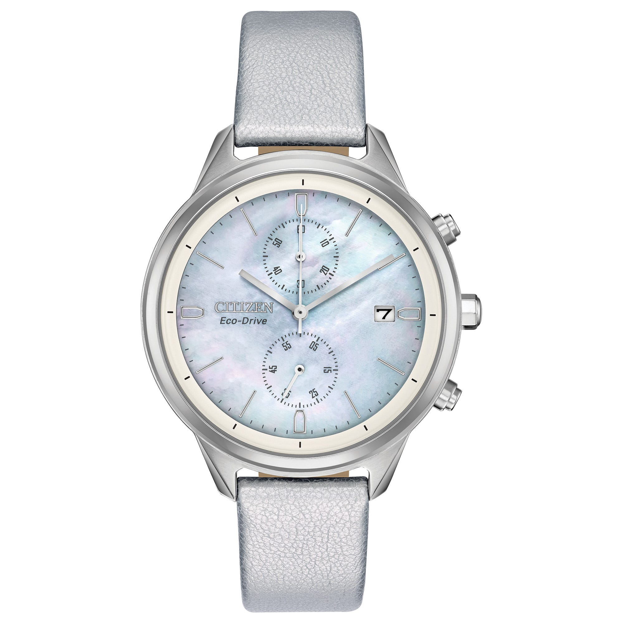 Citizen Ladies' Eco-Drive Chandler Silver Vegan Leather Watch FB2000-03D