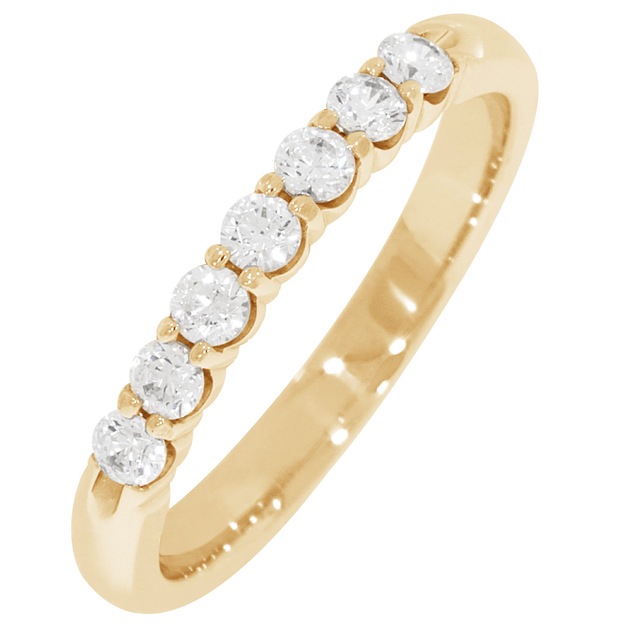 Ladies' 7-Stone 1/3ctw. Diamond Wedding Band in 14K Yellow Gold (GH, SI)