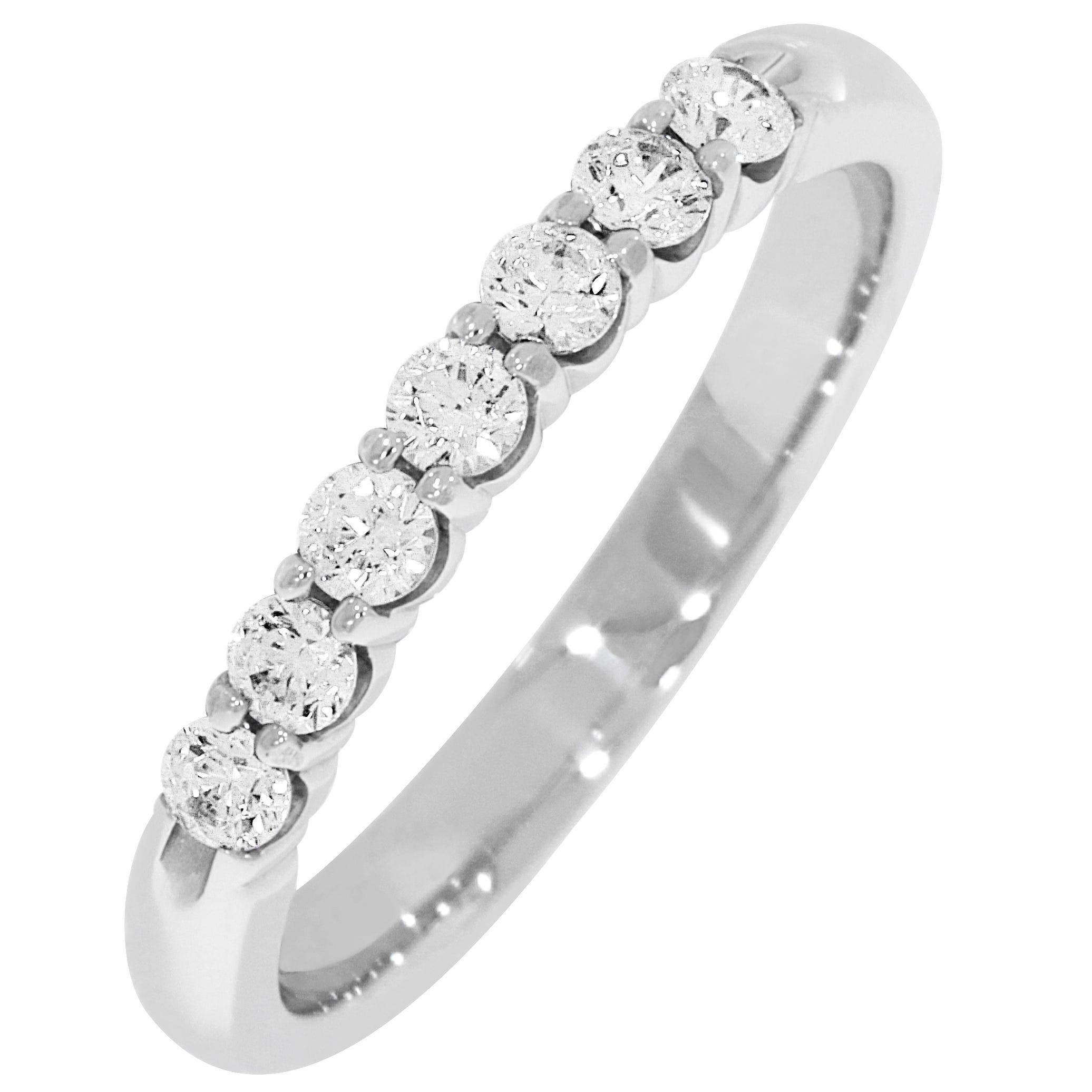 Ladies' 7-Stone 1/3ctw. Diamond Wedding Band in 14K White Gold (HI, I1-I2)