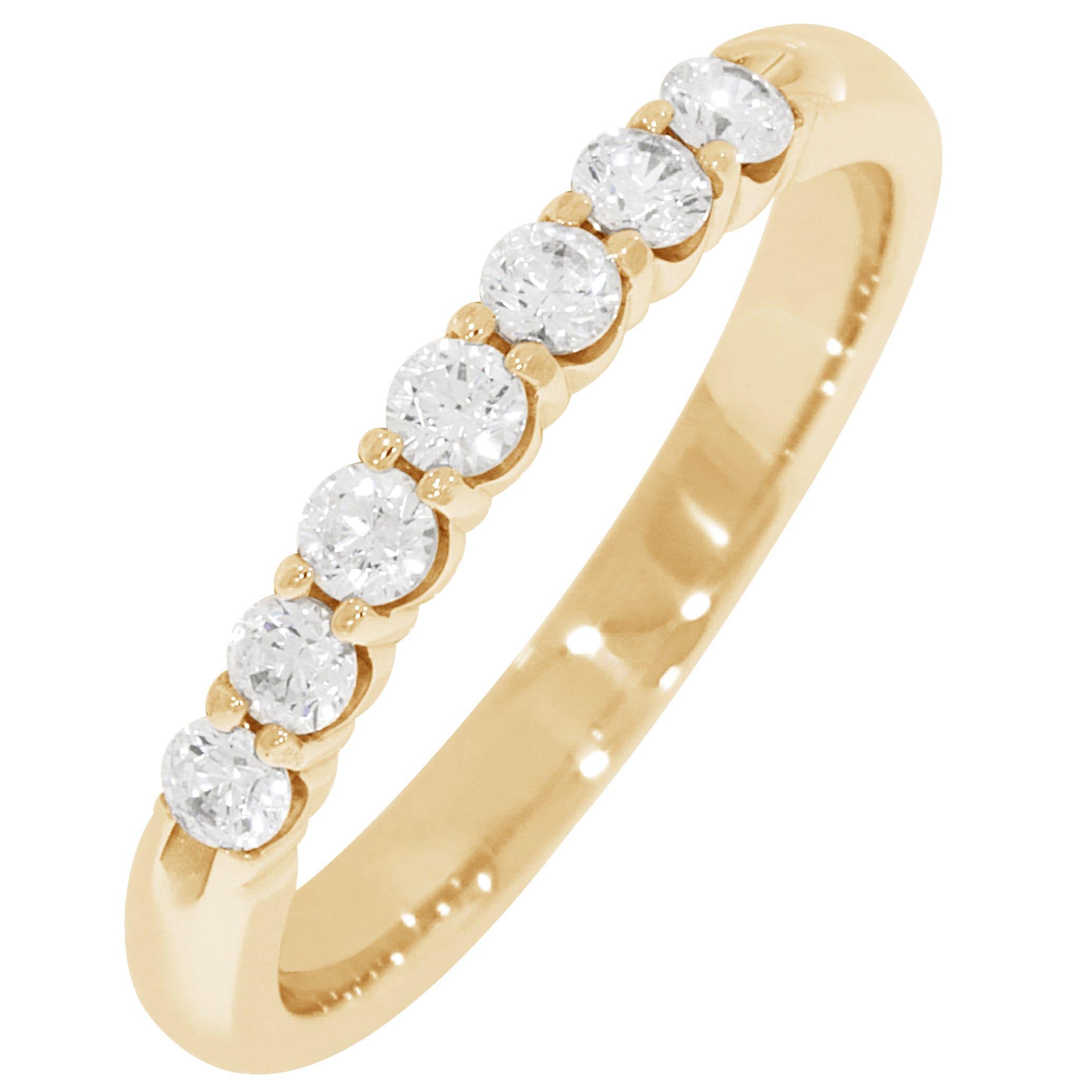 Ladies' 7-Stone 1/3ctw. Diamond Wedding Band in 14K Yellow Gold (HI, I1-I2)
