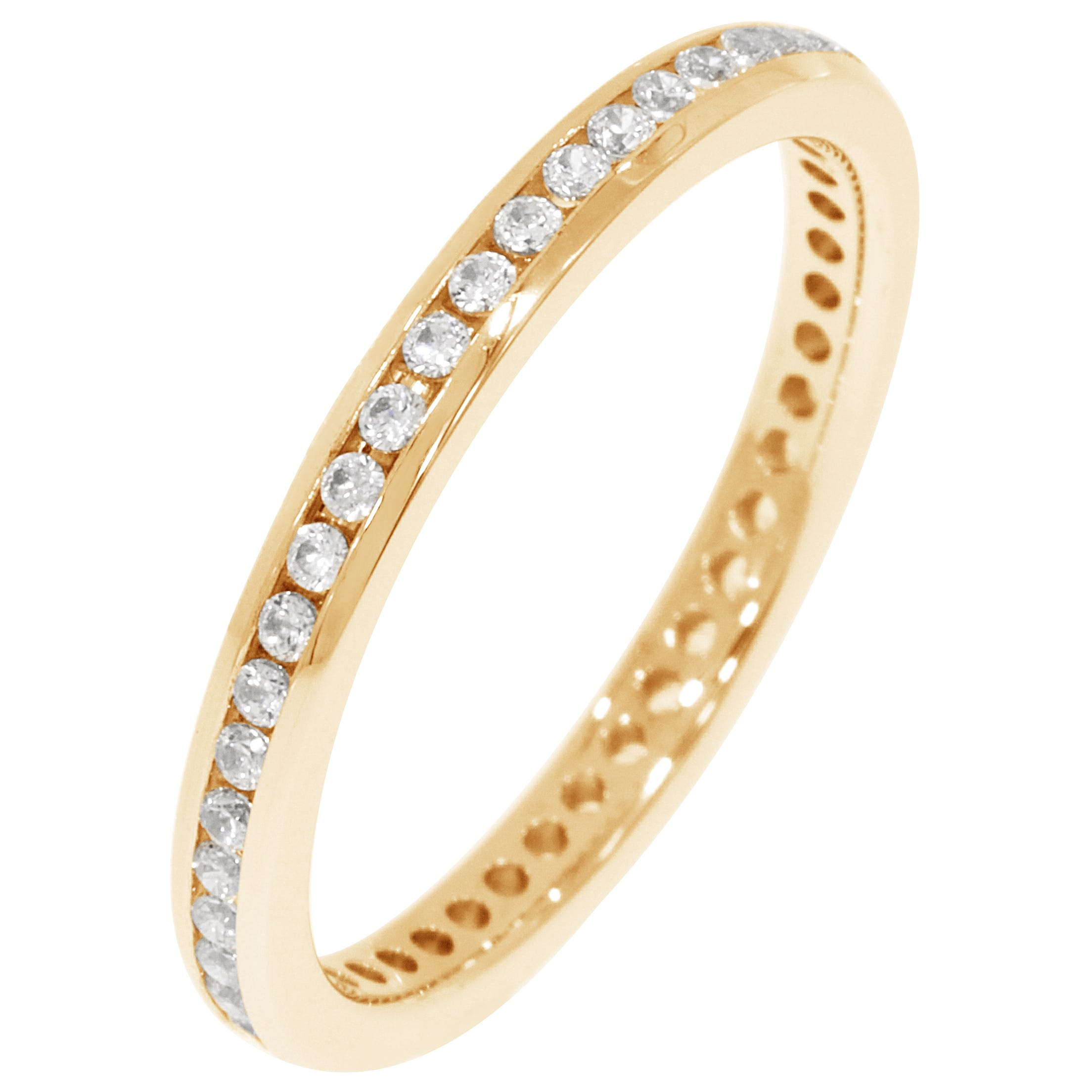 Round Channel Set 1/3ctw. Eternity Band in 18K Yellow Gold (HI, I1)