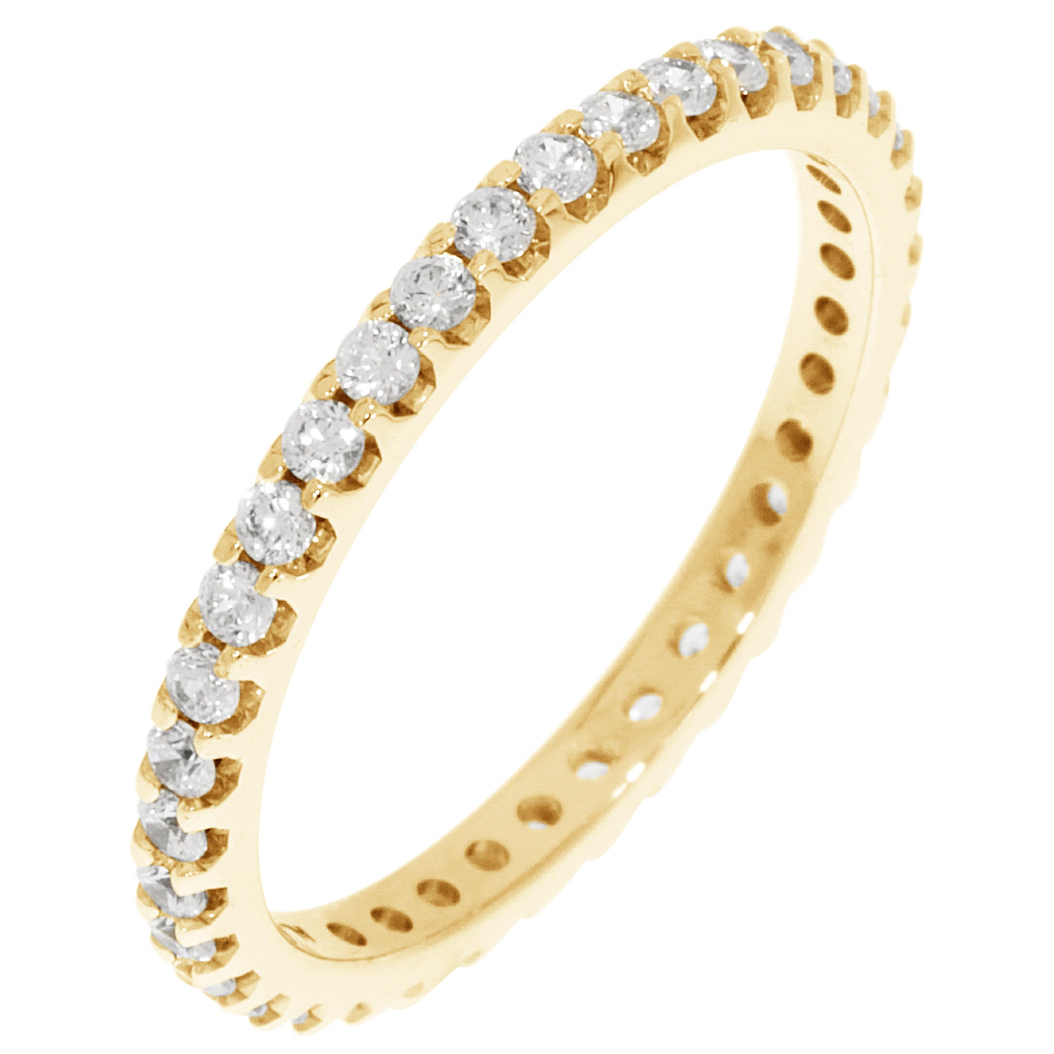 Round Prong Set 1/2ctw. Eternity Band in 14K Yellow Gold (HI, I1)