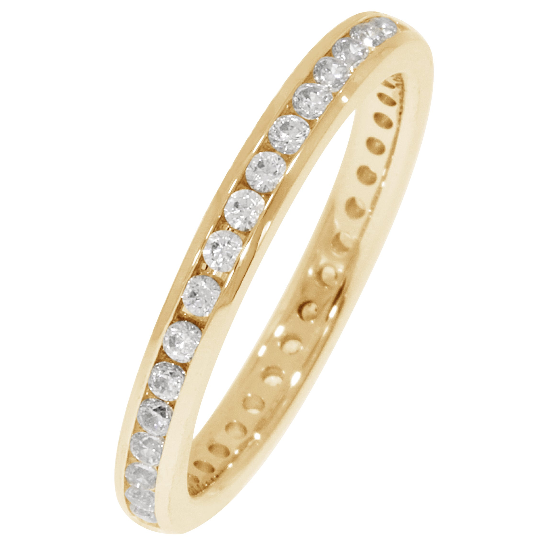 Round Channel Set 1/2ctw. Eternity Band in 14K Yellow Gold (HI, I1-I2)