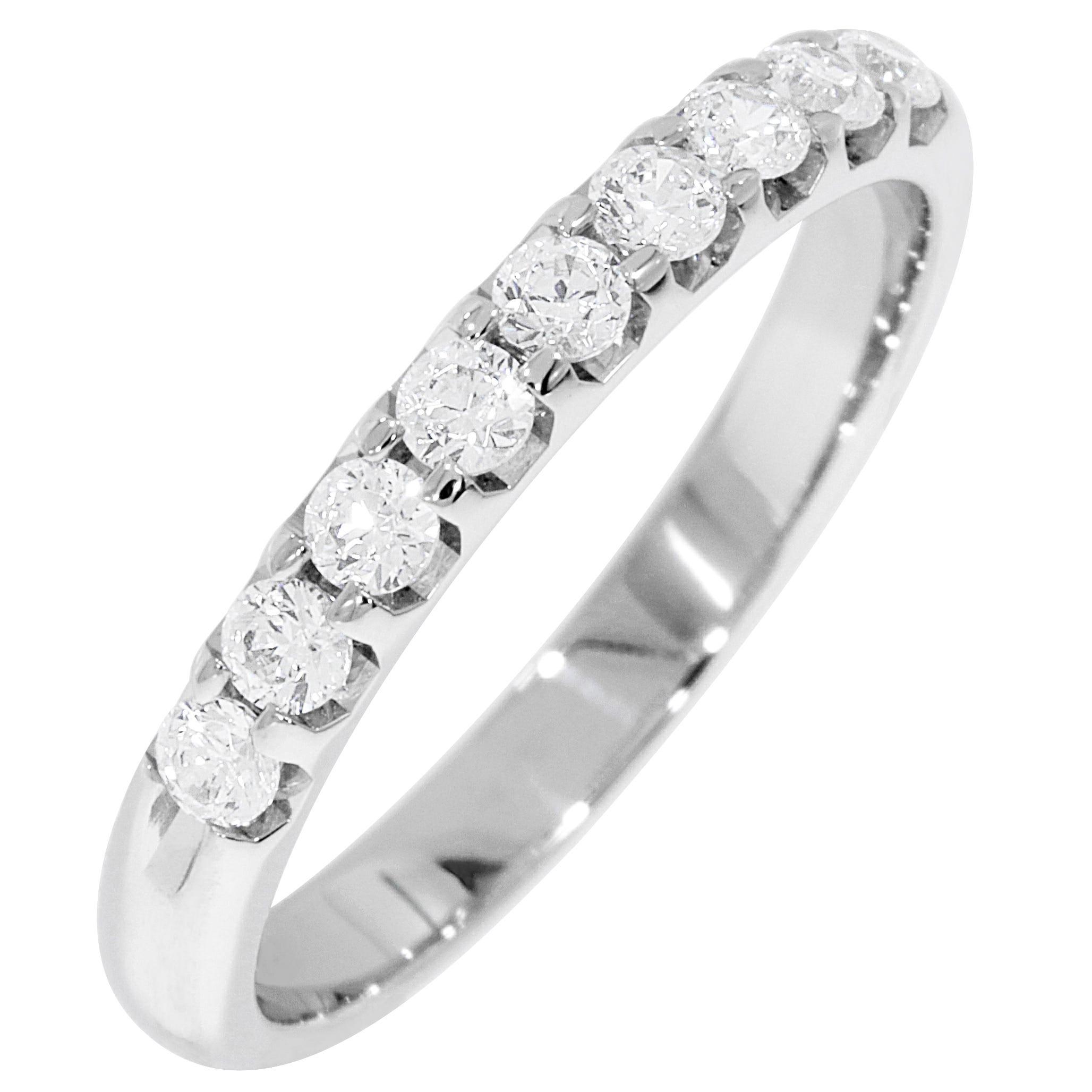 Ladies' 9-Stone 1/3ctw. Prong-Set Diamond Wedding Band in 14K White Gold (HI, I1)