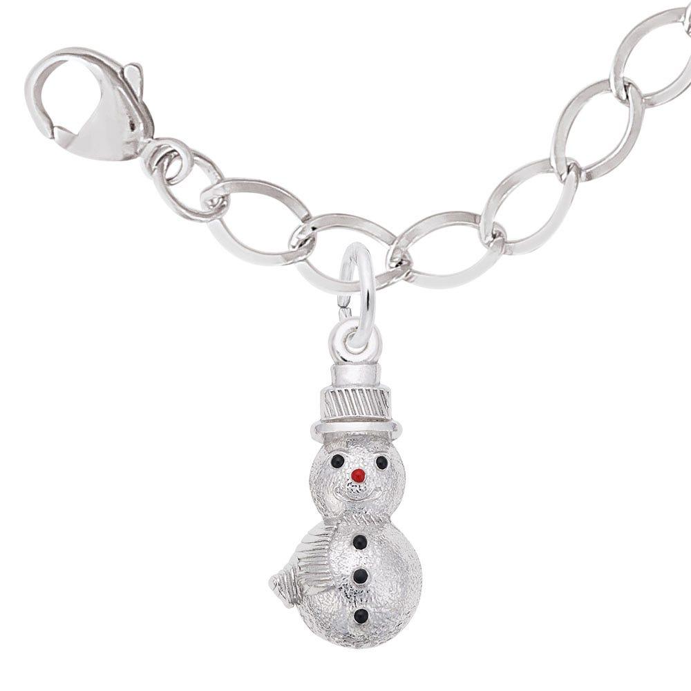Snowman Charm Bracelet Set in Sterling Silver