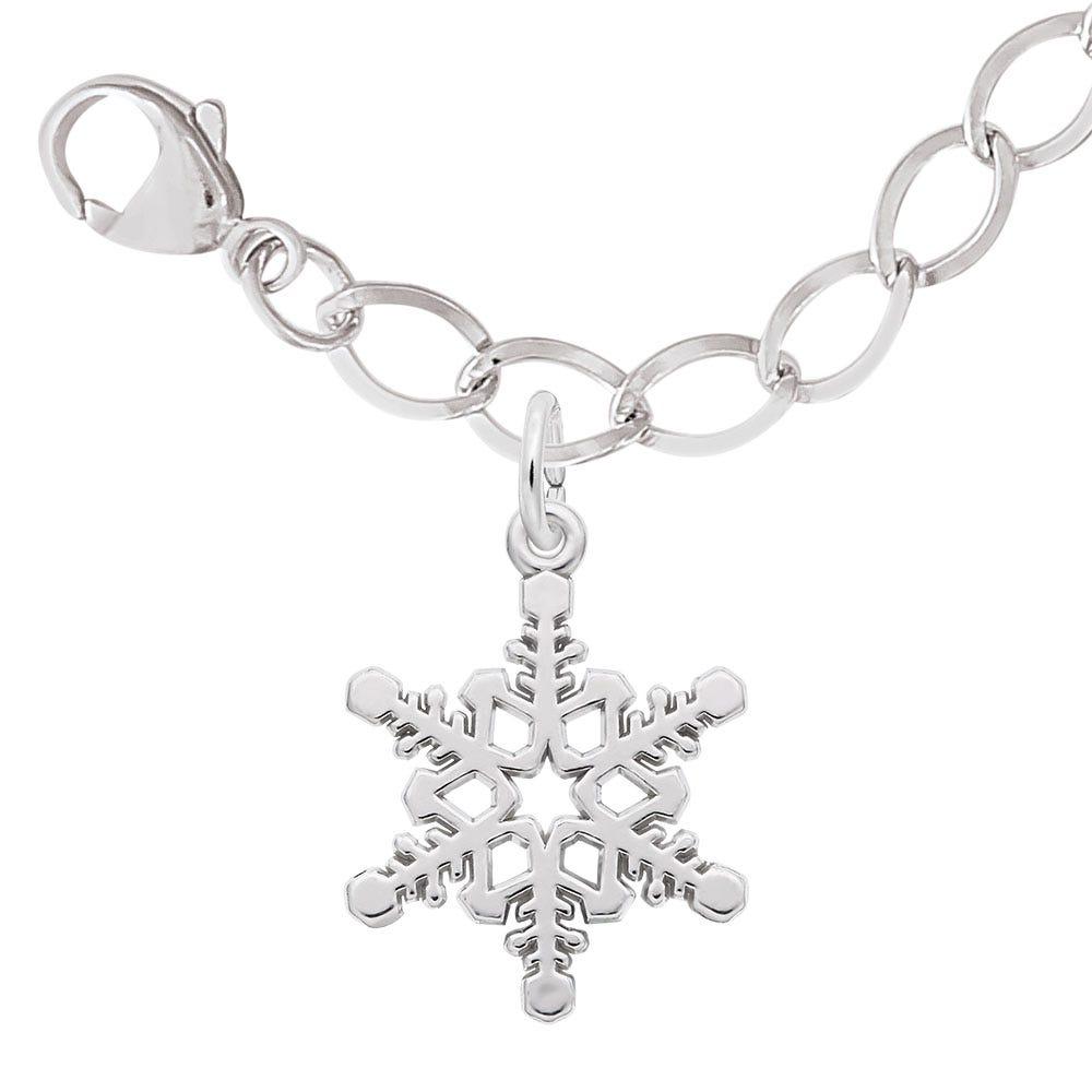 Snowflake Charm Bracelet Set in Sterling Silver