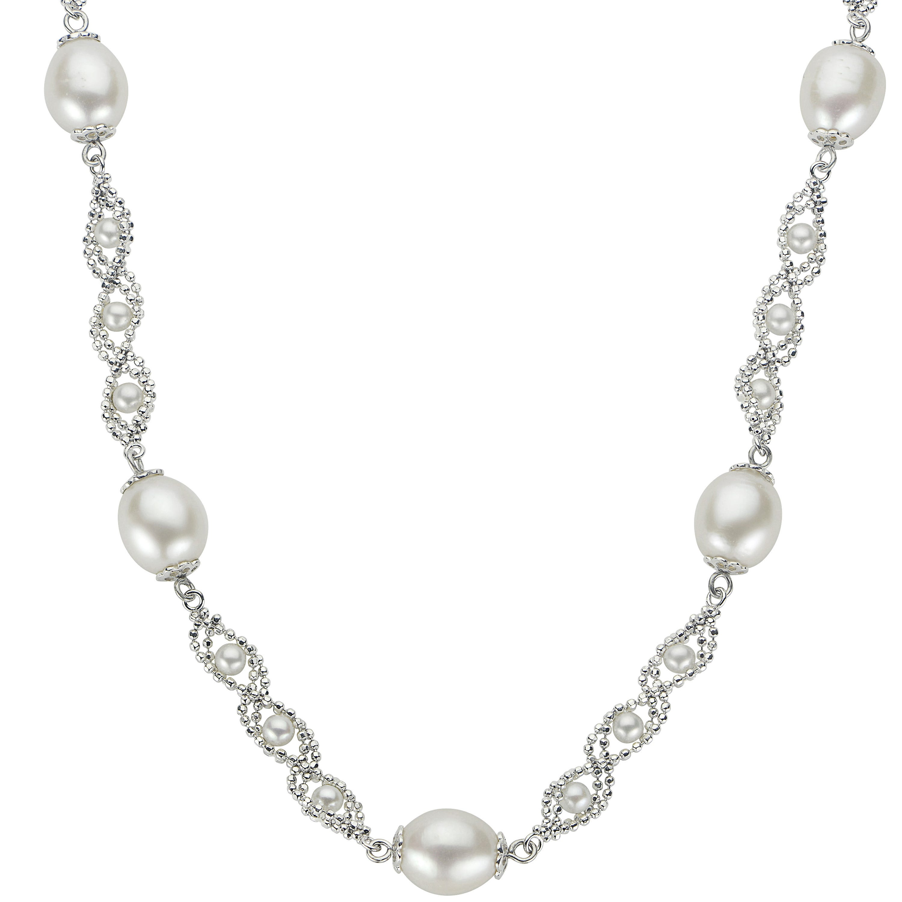 Imperial Pearl Lace-Twist Design Freshwater Pearl Necklace