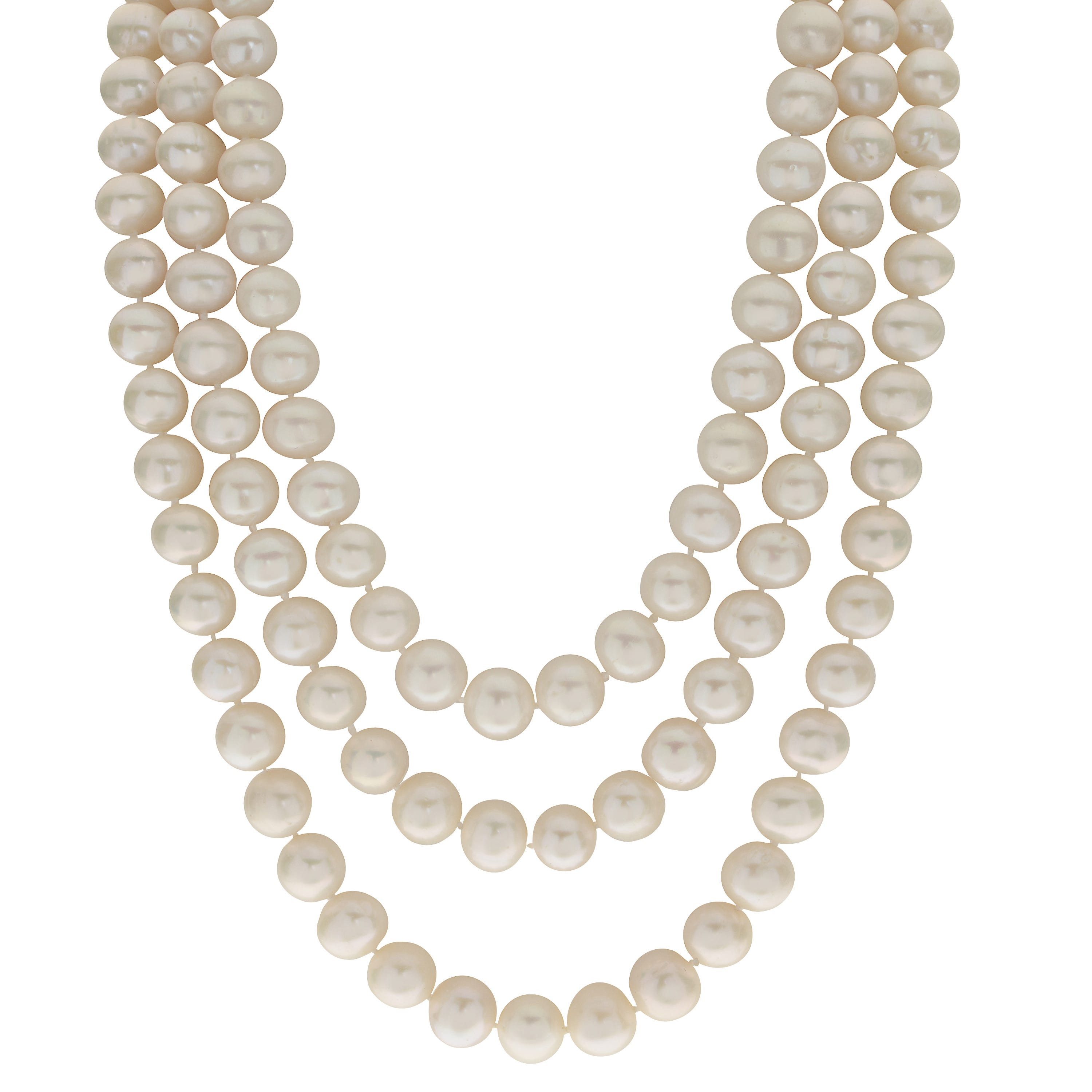 Imperial Pearl Graduated Freshwater Pearl Necklace 50