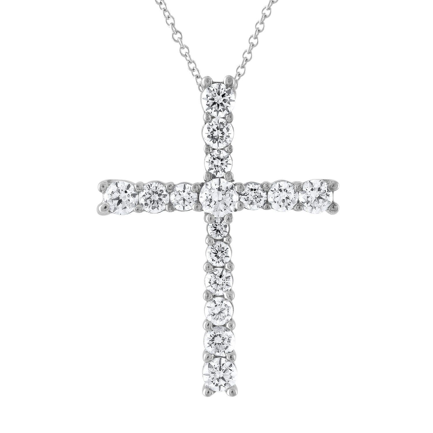 Diamond 1.50ctw Cross Pendant in 14k White Gold