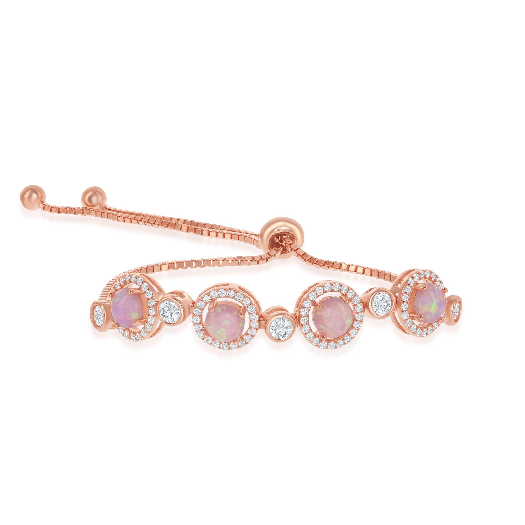 crystal anklet pink opal anklet gemstone anklet