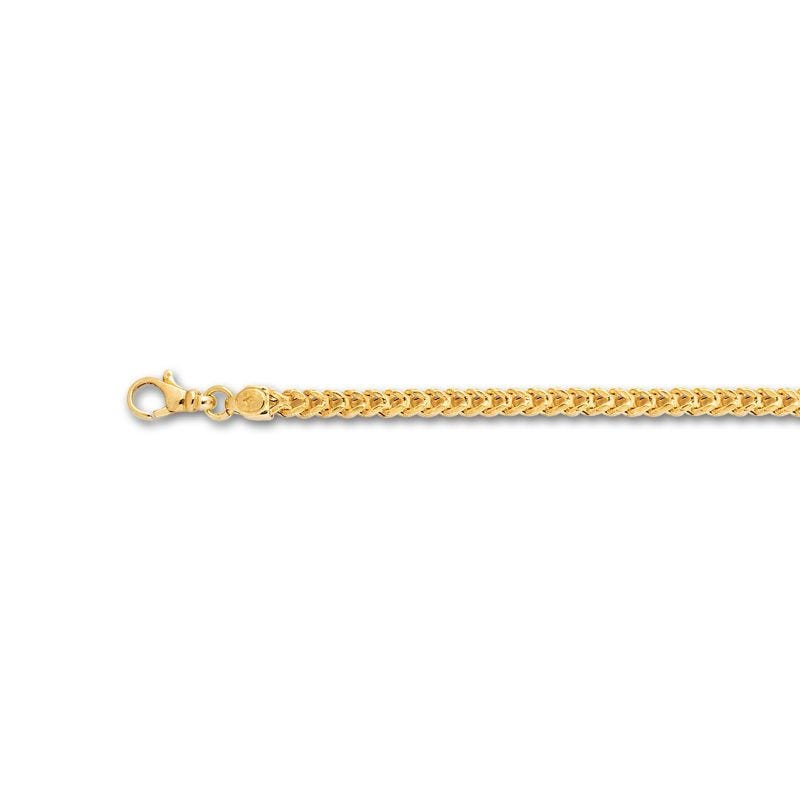Men's Square Franco Chain 3.9mm in 14k Yellow Gold