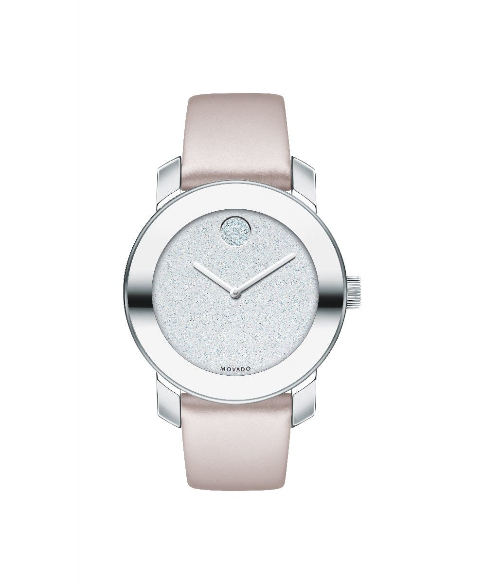 Movado BOLD Silver Glitter Dial Ladies Watch 3600522