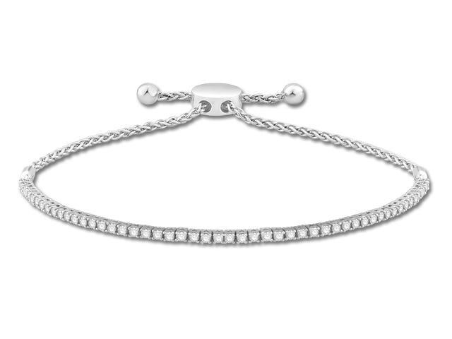 Diamond Tennis 1ctw. Bolo Bracelet in Sterling Silver