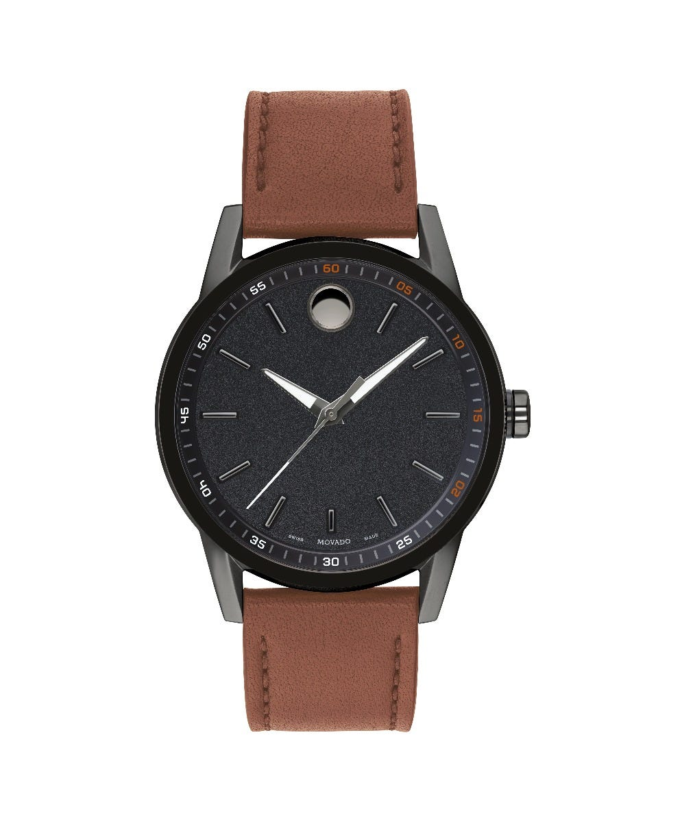 Movado Men's Museum Sport Gunmetal Watch 0607224