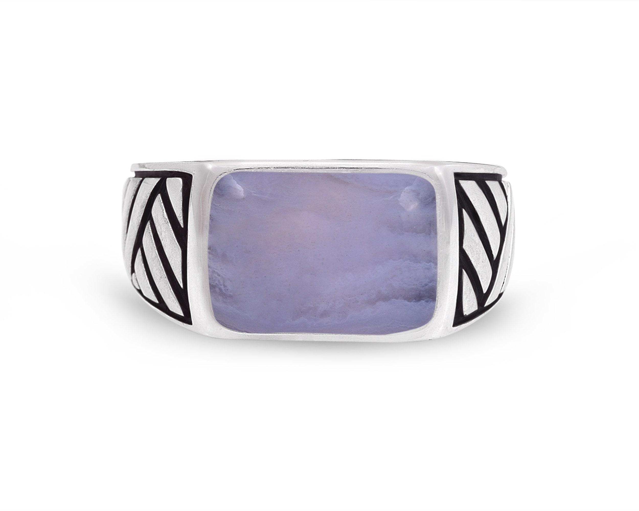 Purple Banded Agate Gemstone /& Sterling Silver Earrings.