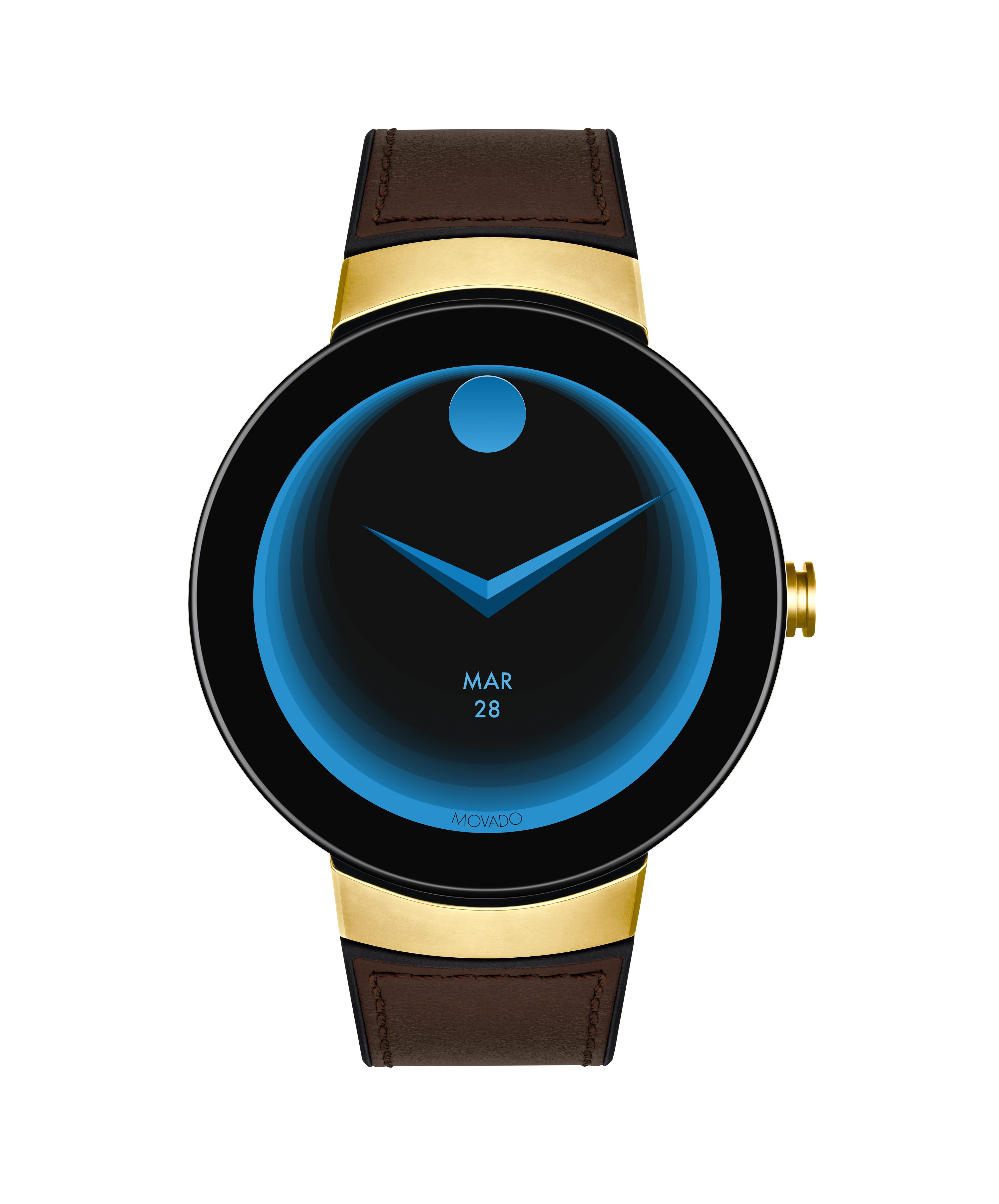 Movado Connect Brown Leather Strap Smartwatch 3660021