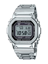 G-Shock Men's Solar-Radio-Bluetooth Stainless Steel Watch GMWB5000D-1