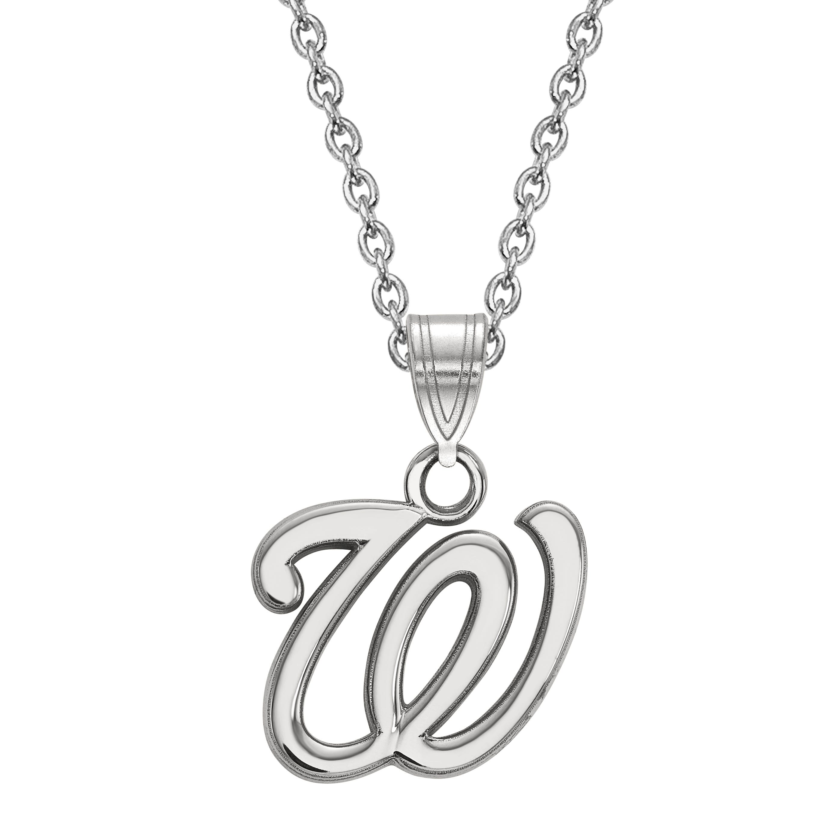 Washington Nationals Small Pendant in Sterling Silver