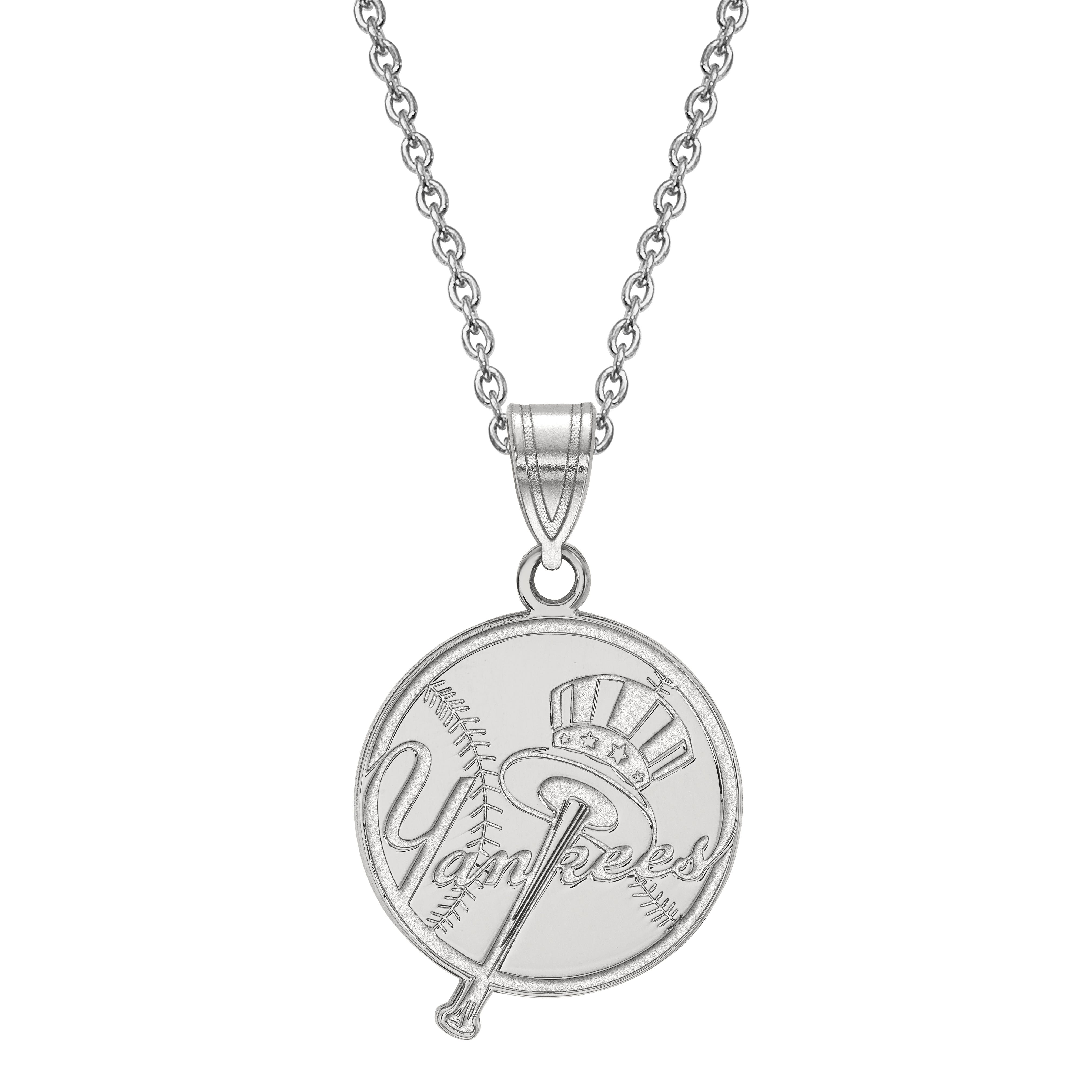New York Yankees Large Pendant in Sterling Silver