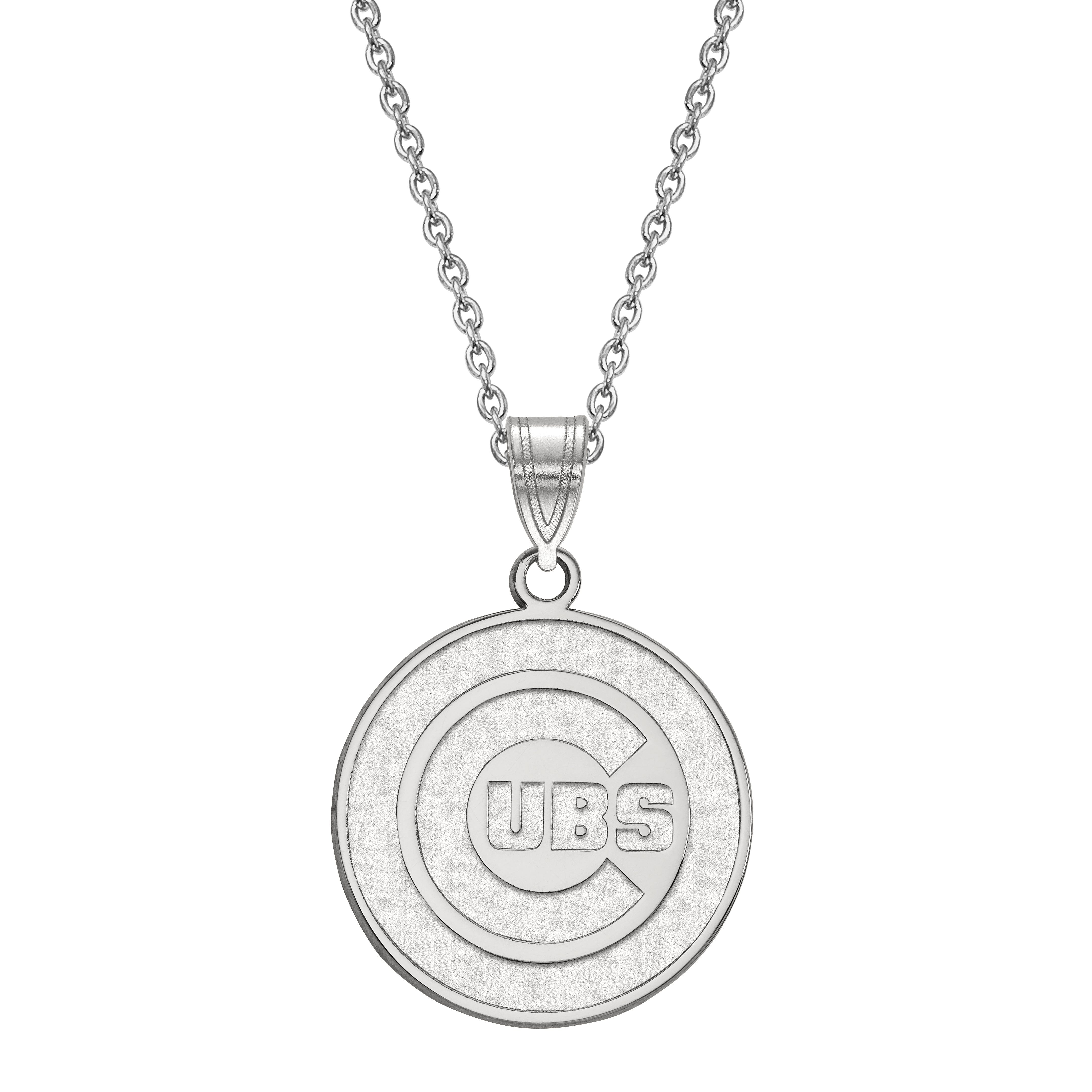 Chicago Cubs Large Pendant in Sterling Silver