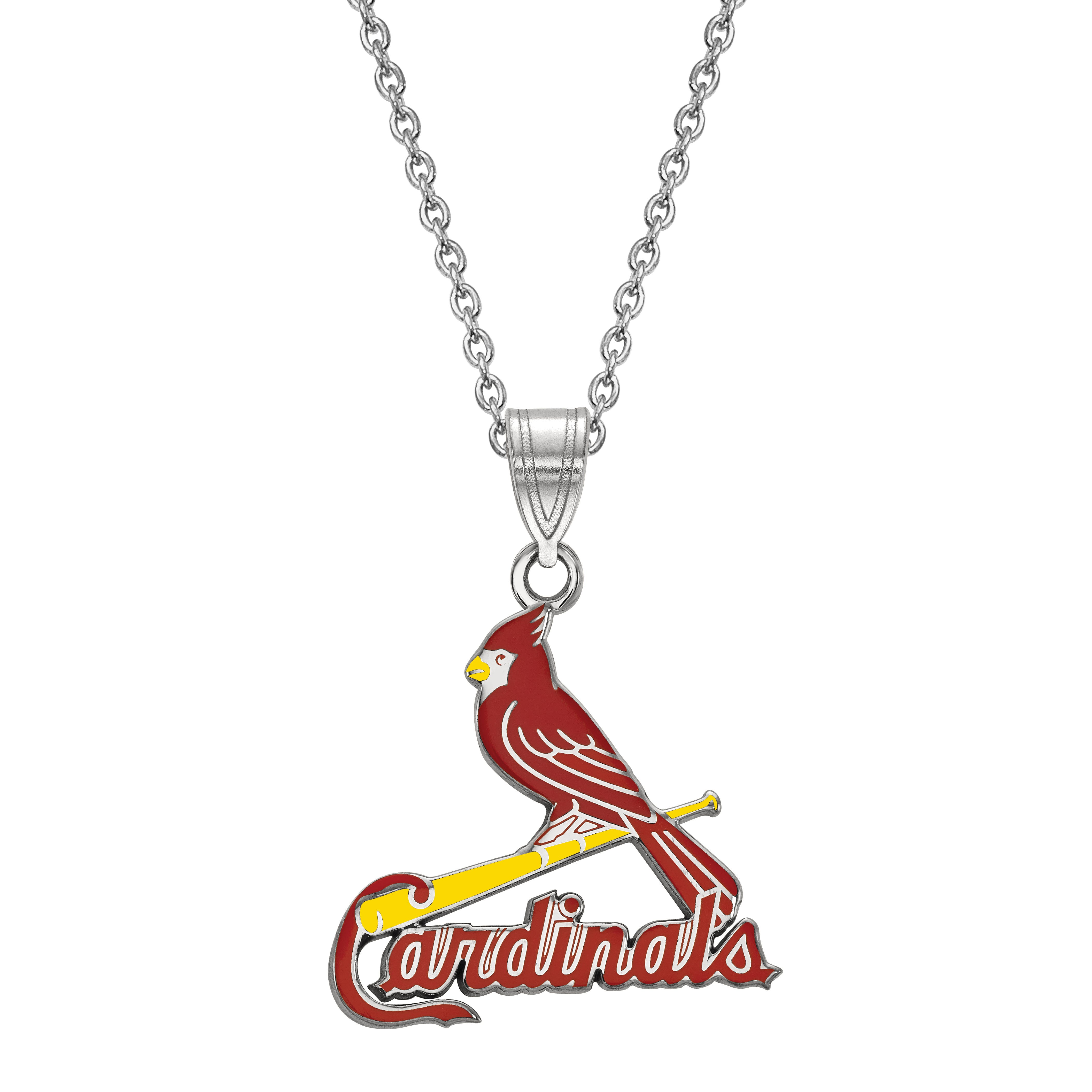 St. Louis Cardinals Large Red Pendant in Sterling Silver