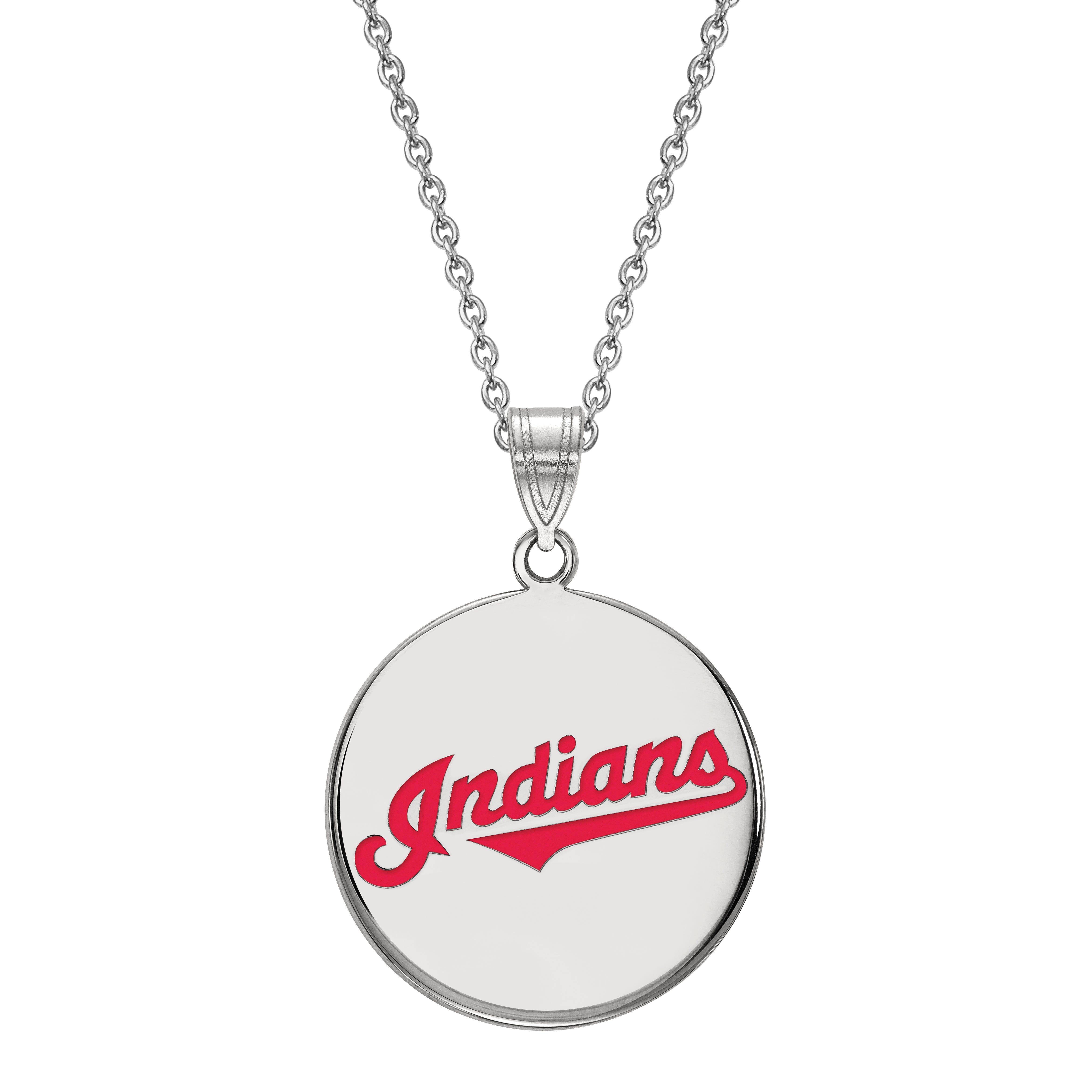 Cleveland Indians Large Disc Pendant