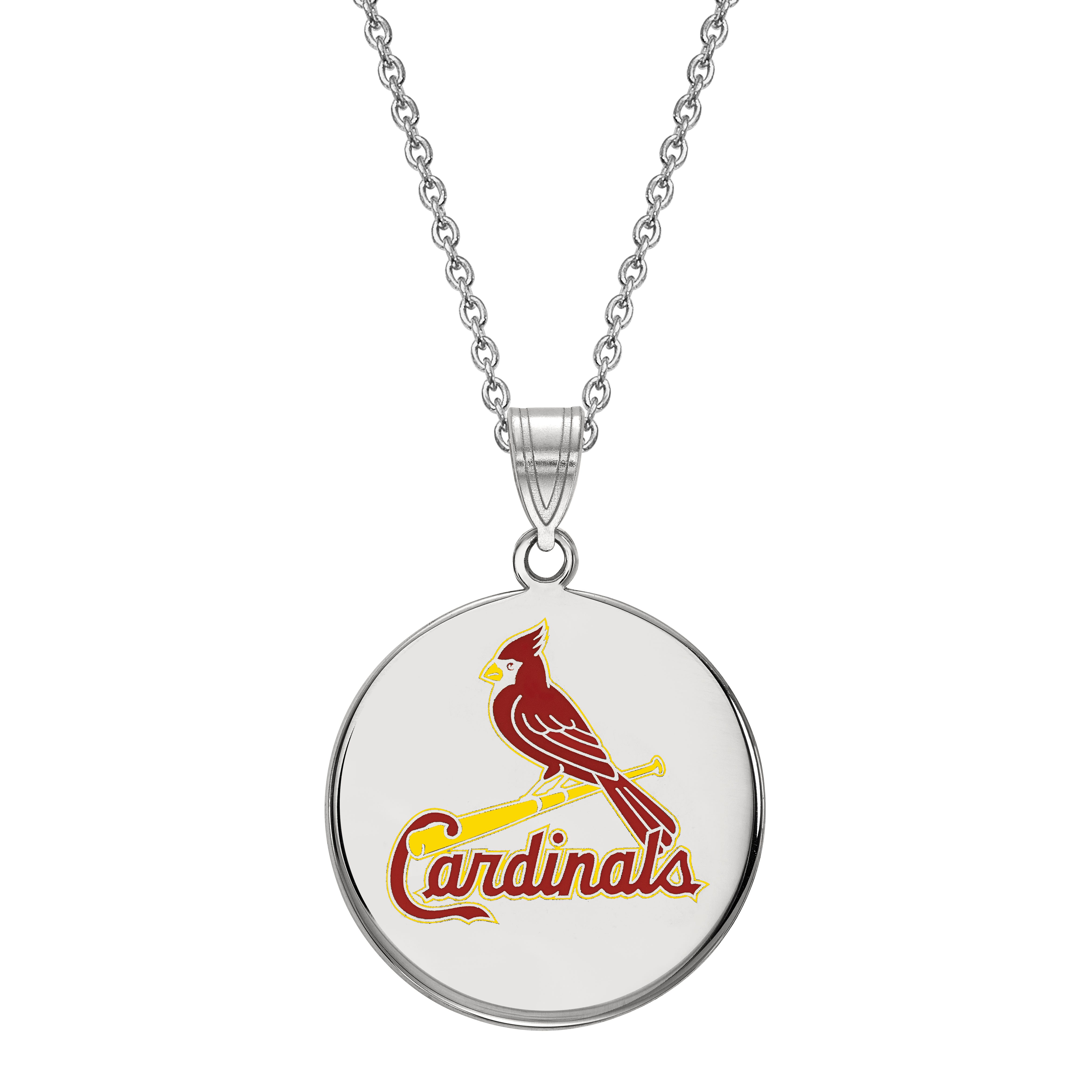 St. Louis Cardinals Large Pendant in Sterling Silver