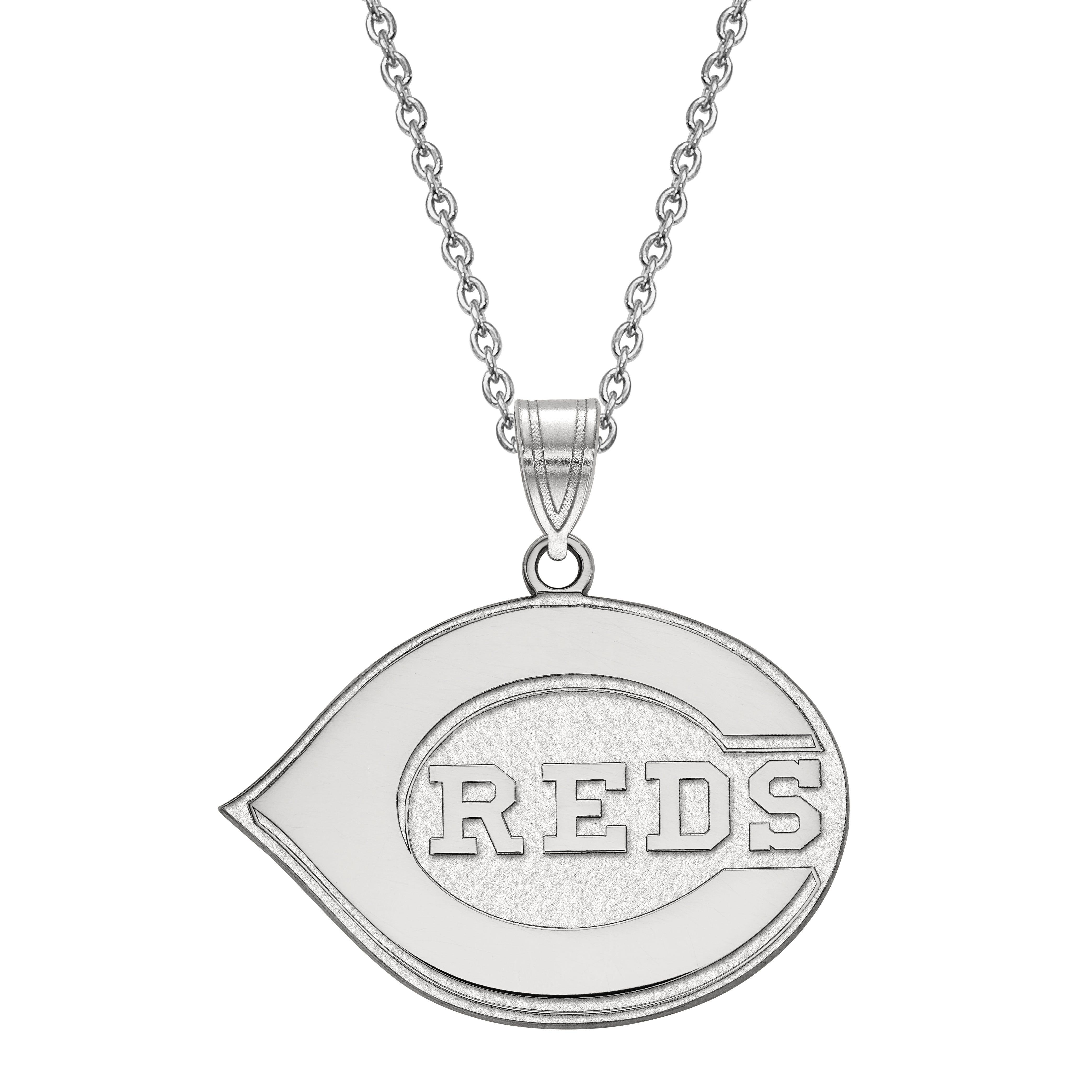 Cincinnati Reds Large Pendant in Sterling Silver