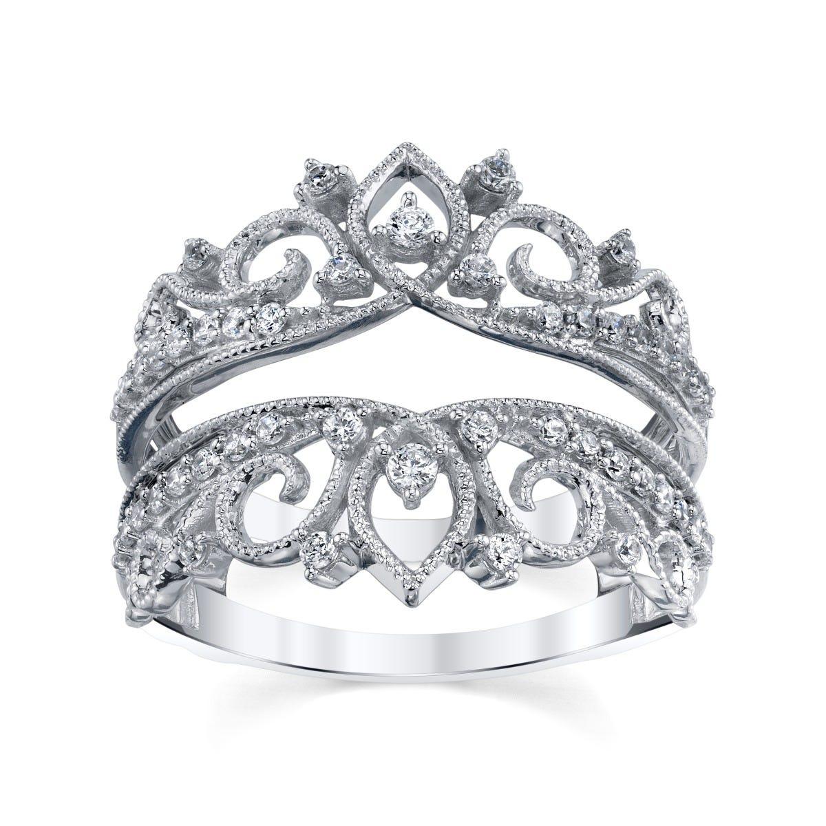 Sirena 3/8ctw. Diamond Crown Ring Insert Enhancer in 14k White Gold