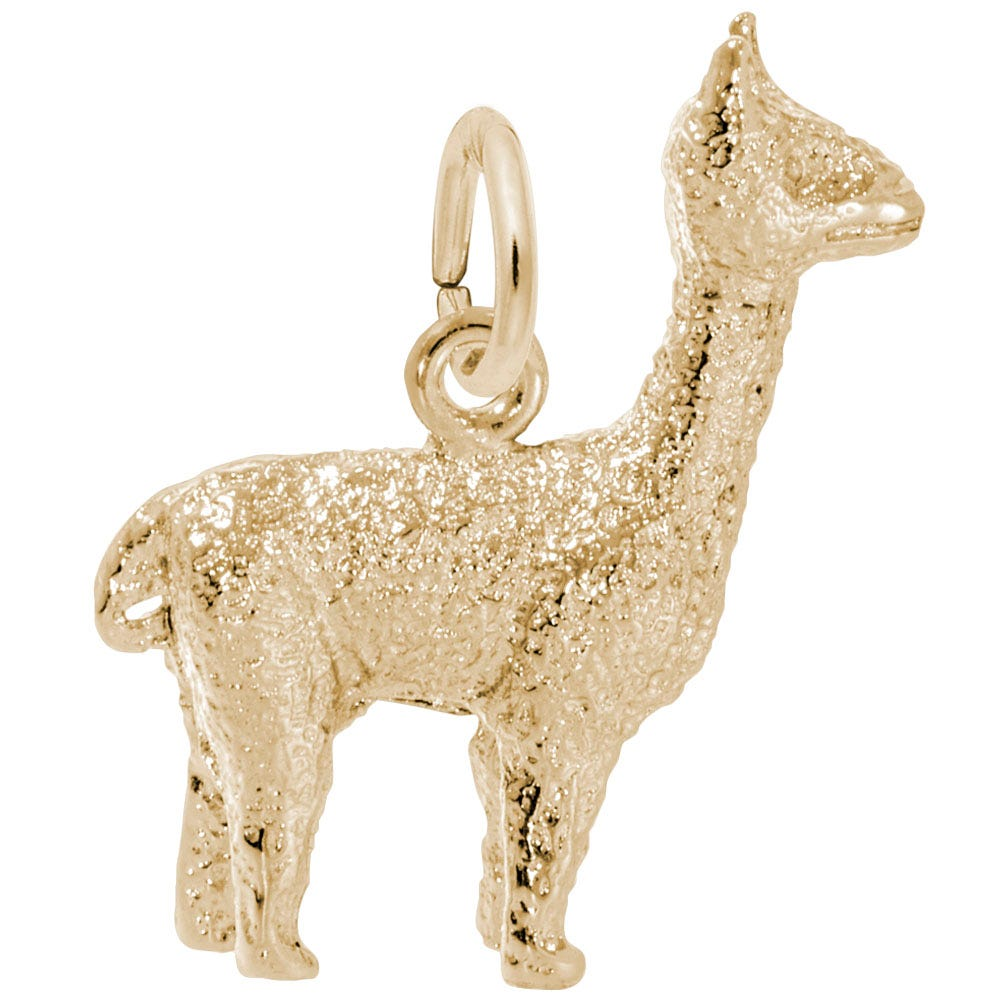 Alpaca Sterling Silver & Yellow Gold Plated Charm