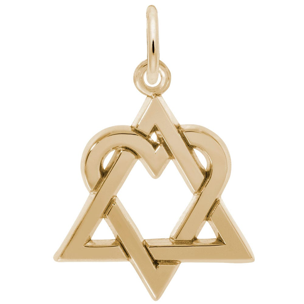 Adoption Logo Sterling Silver & Yellow Gold Plated Charm