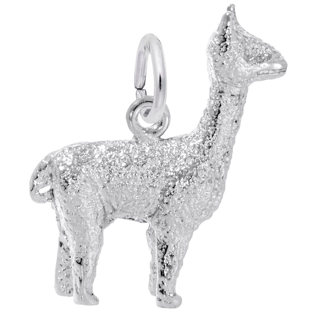 PersonalizedJewelryGifts Baby Alpaca Necklace for Women and Girls Silver Alpaca Charm Pendant Jewelry Baby Llama Charm Necklace