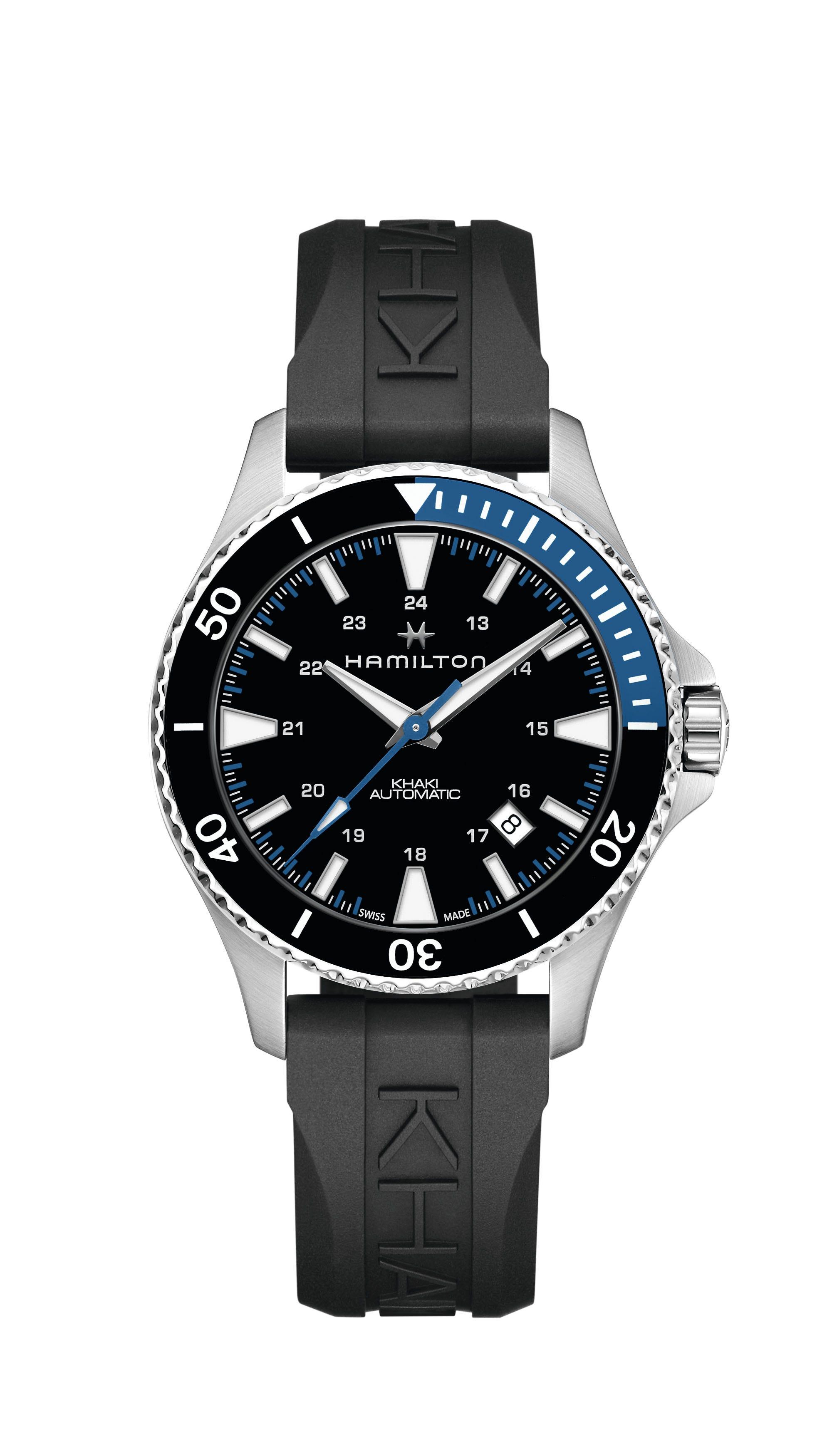 Hamilton Men's Navy Scuba Automatic 40mm Rubber Strap Watch H82315331