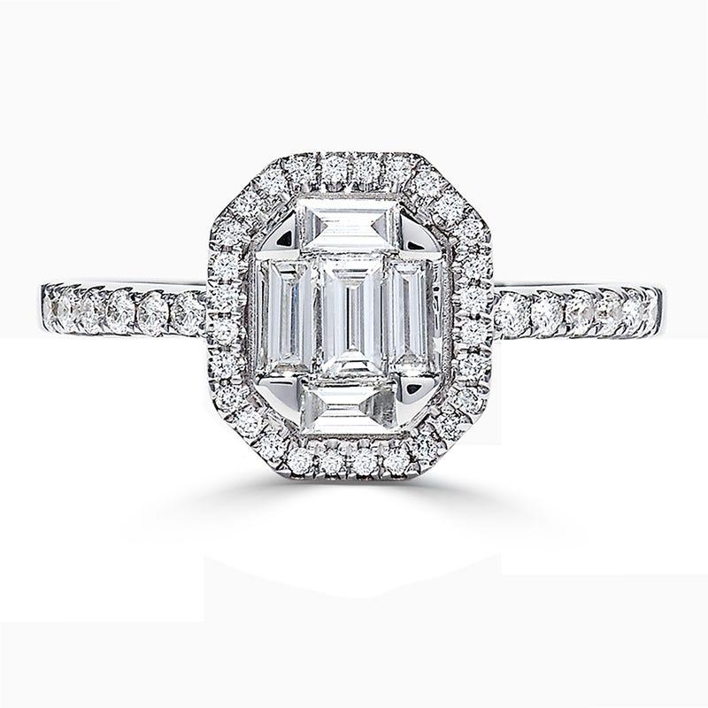 EFFY Diamond Baguette Fashion Ring in 14k White Gold