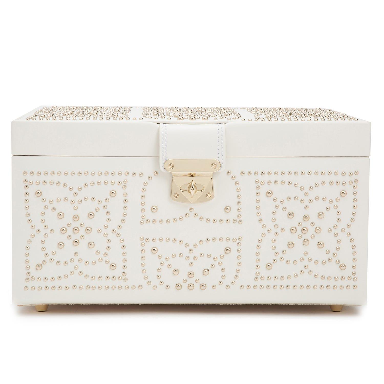 Cream Leather Marrakesh Medium Jewelry Box