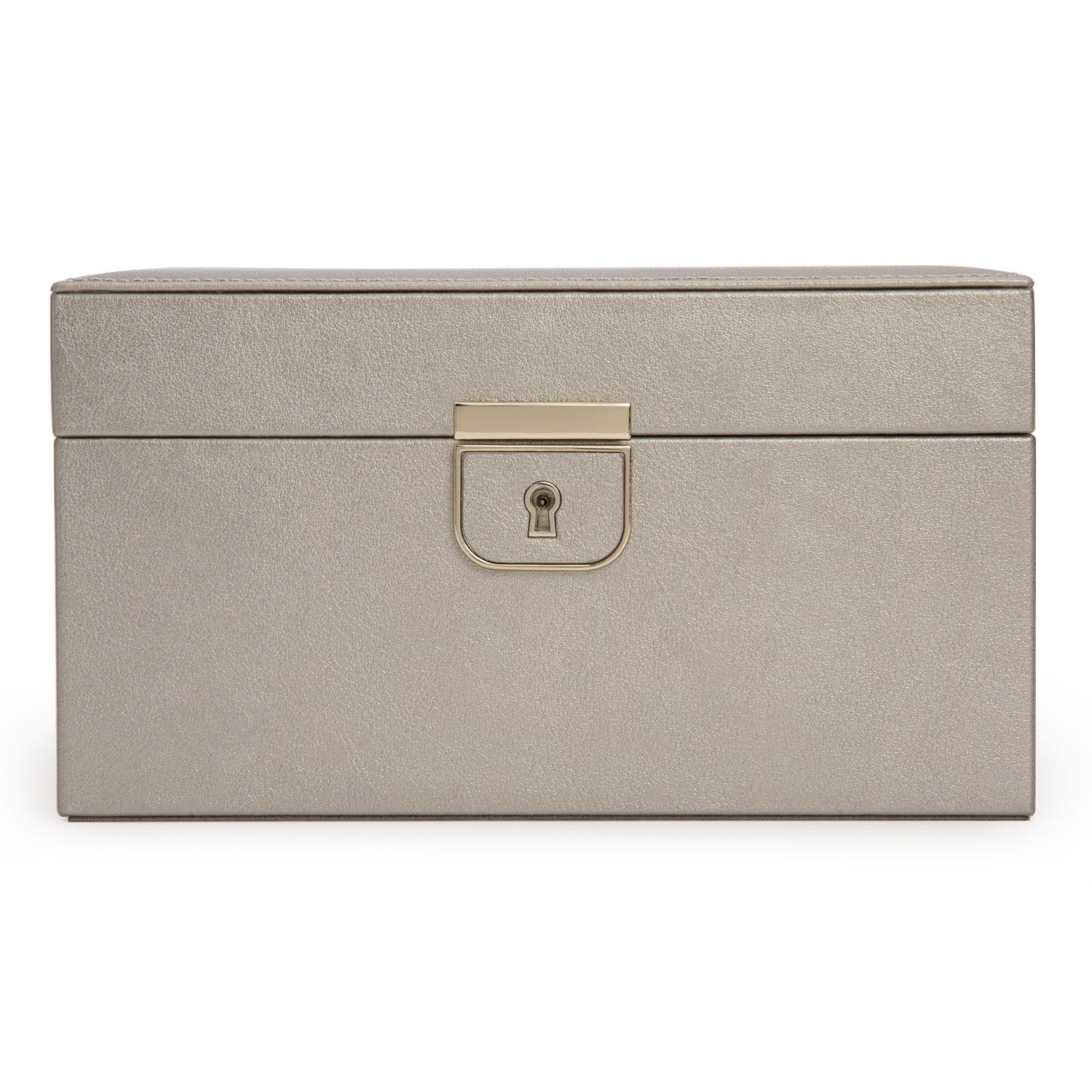 Taupe Leather Palermo Small Jewelry Box