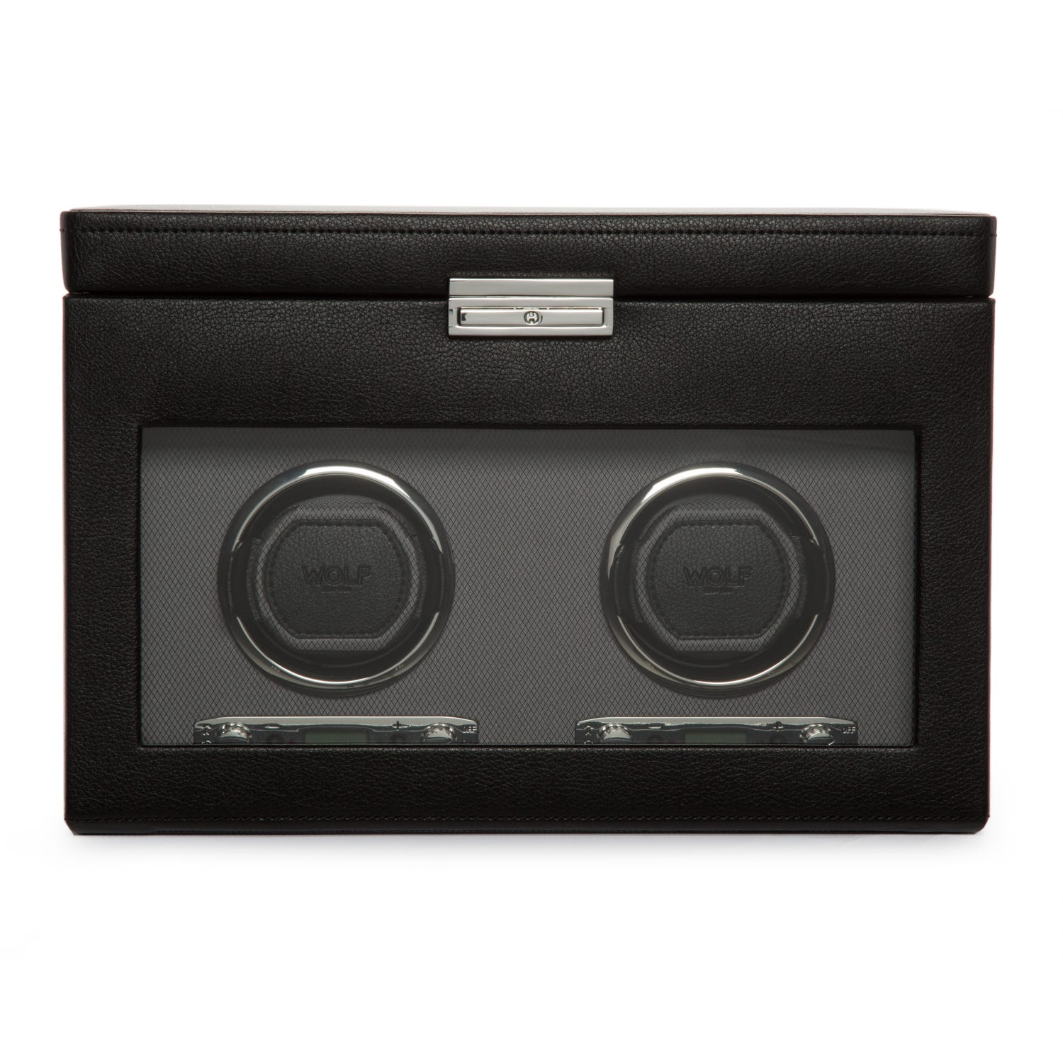 Black Viceroy Double Watch Winder with Storage