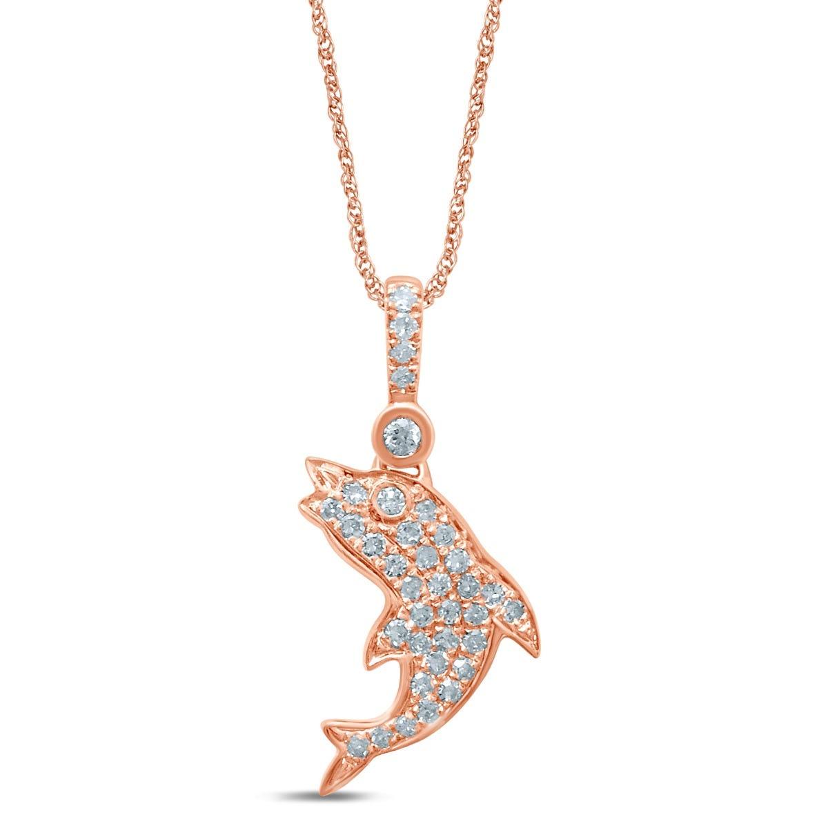 Diamond Fashion Pendant in 10k Rose Gold