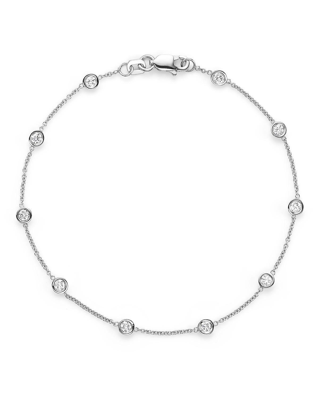 Diamond Ten Station Bracelet 1/2ctw in 14K White Gold
