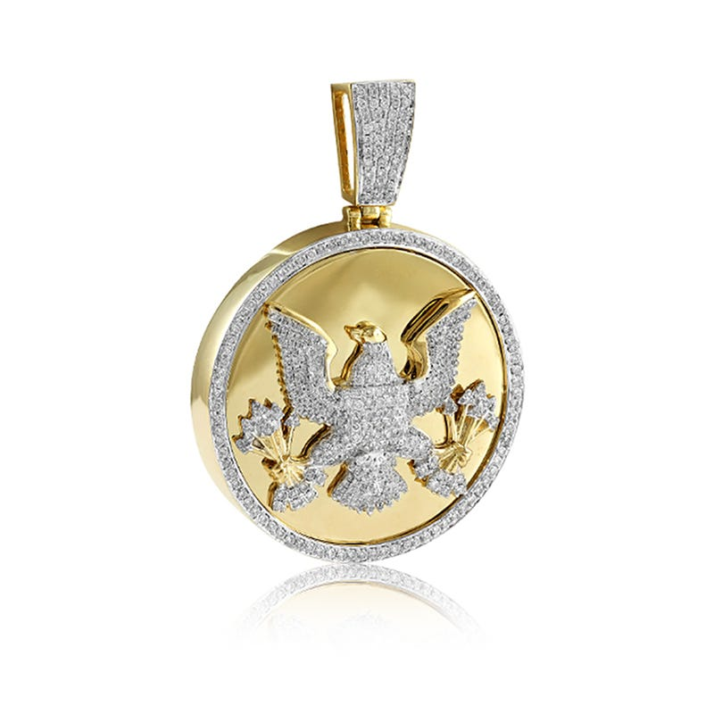 Men's Eagle 2ctw. Diamond Medallion Diamond in 10k Yellow Gold